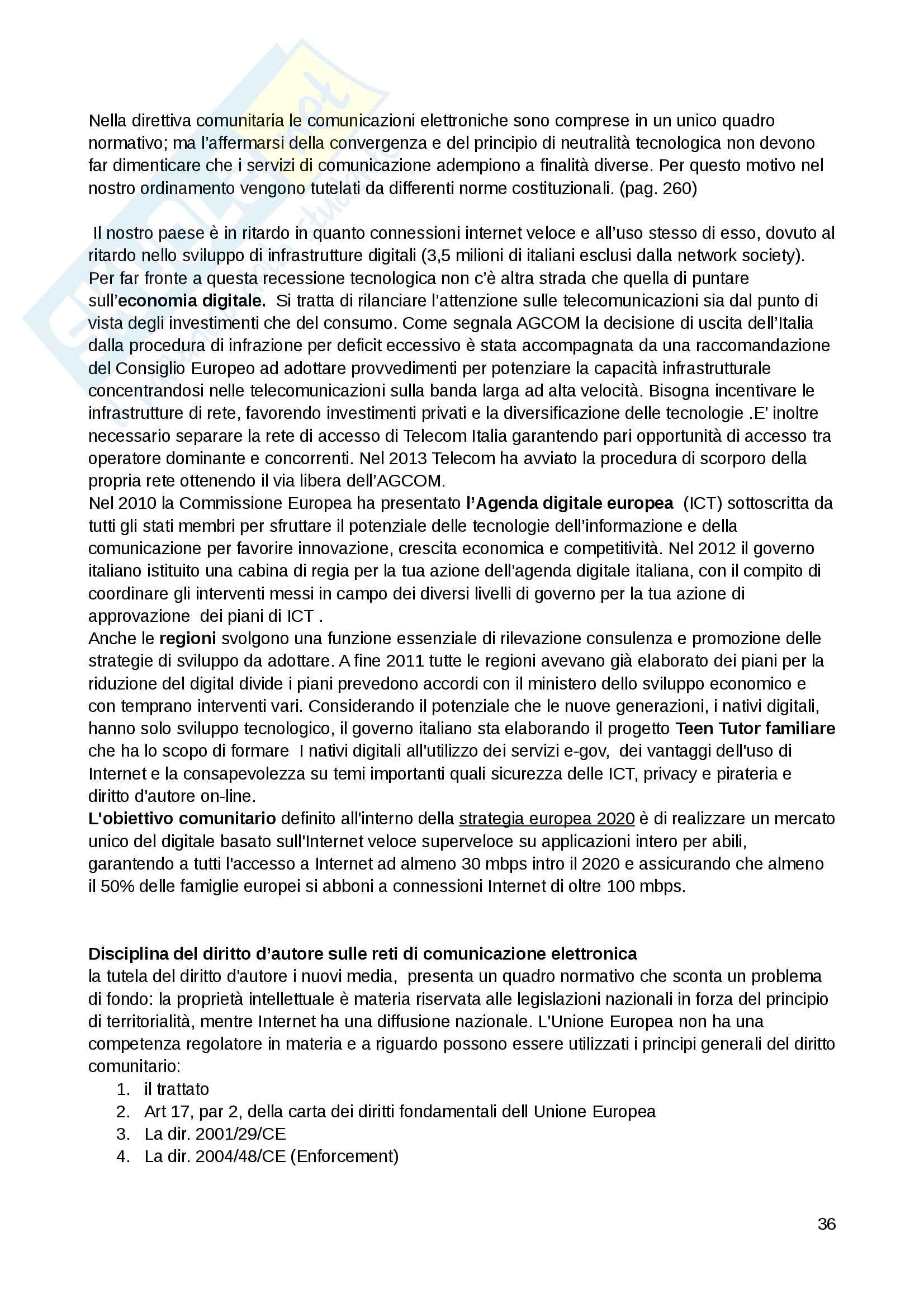 Sunto esame Diritto dei media e dello spettacolo, libro consigliato Le regole dell informazione, Prof. Donati Pag. 36