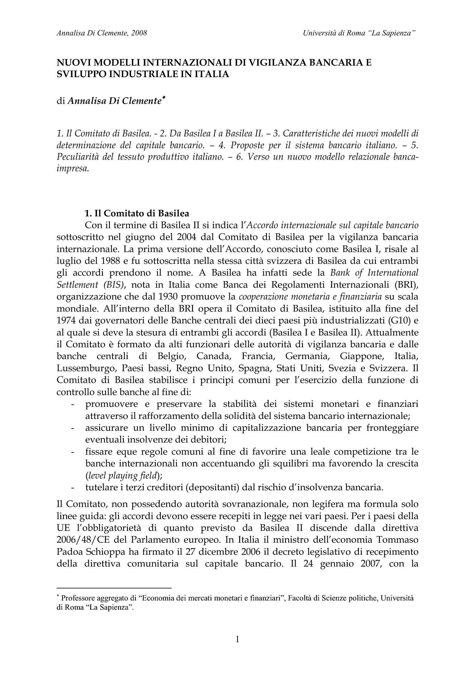 Accordo di Basilea sulla vigilanza bancaria