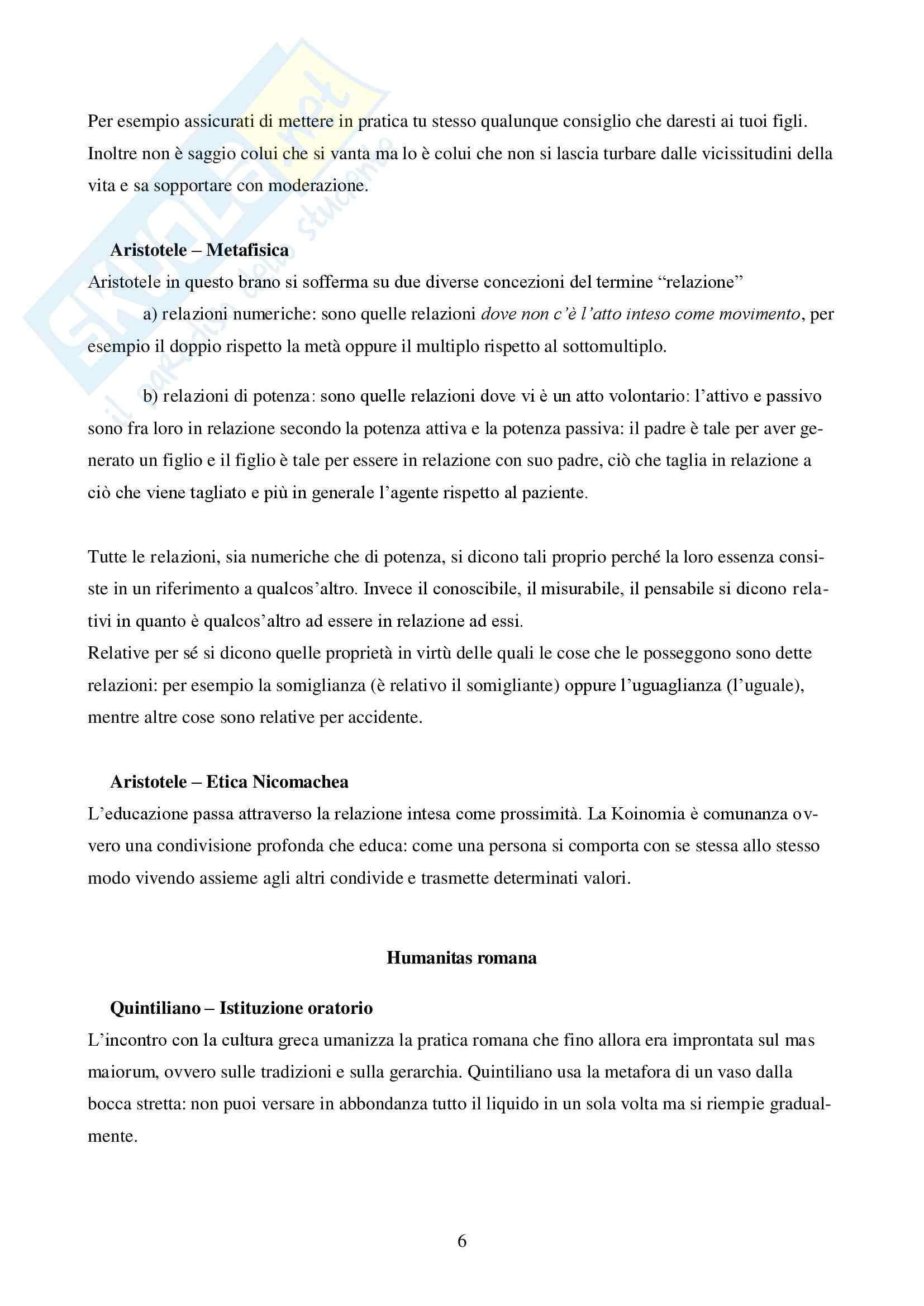 Riassunto esame Pedagogia, prof. Mari, libro consigliato La relazione Educativa, Mari Pag. 6