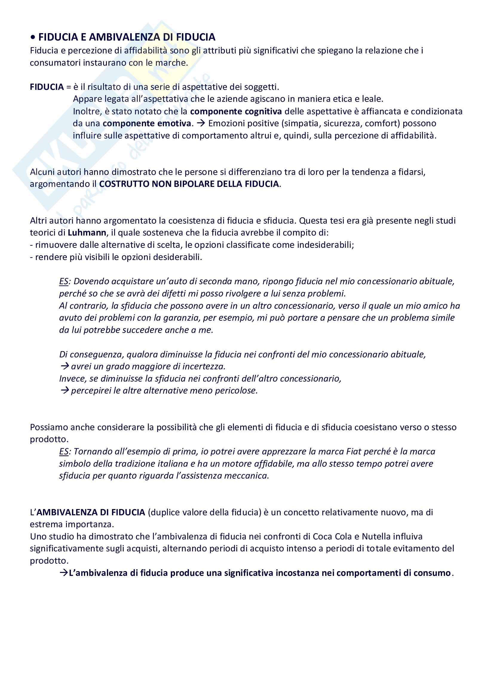 Psicologia dei consumi e neuromarketing Pag. 6