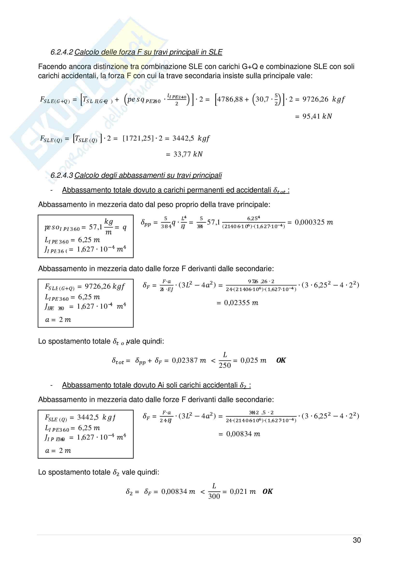 Analisi statica e dinamica di un Edificio in Acciaio Pag. 36