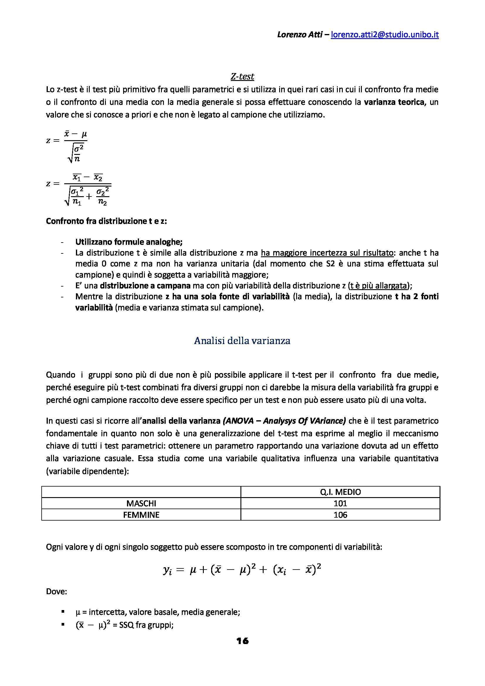 Statistica psicometrica - Appunti Pag. 16