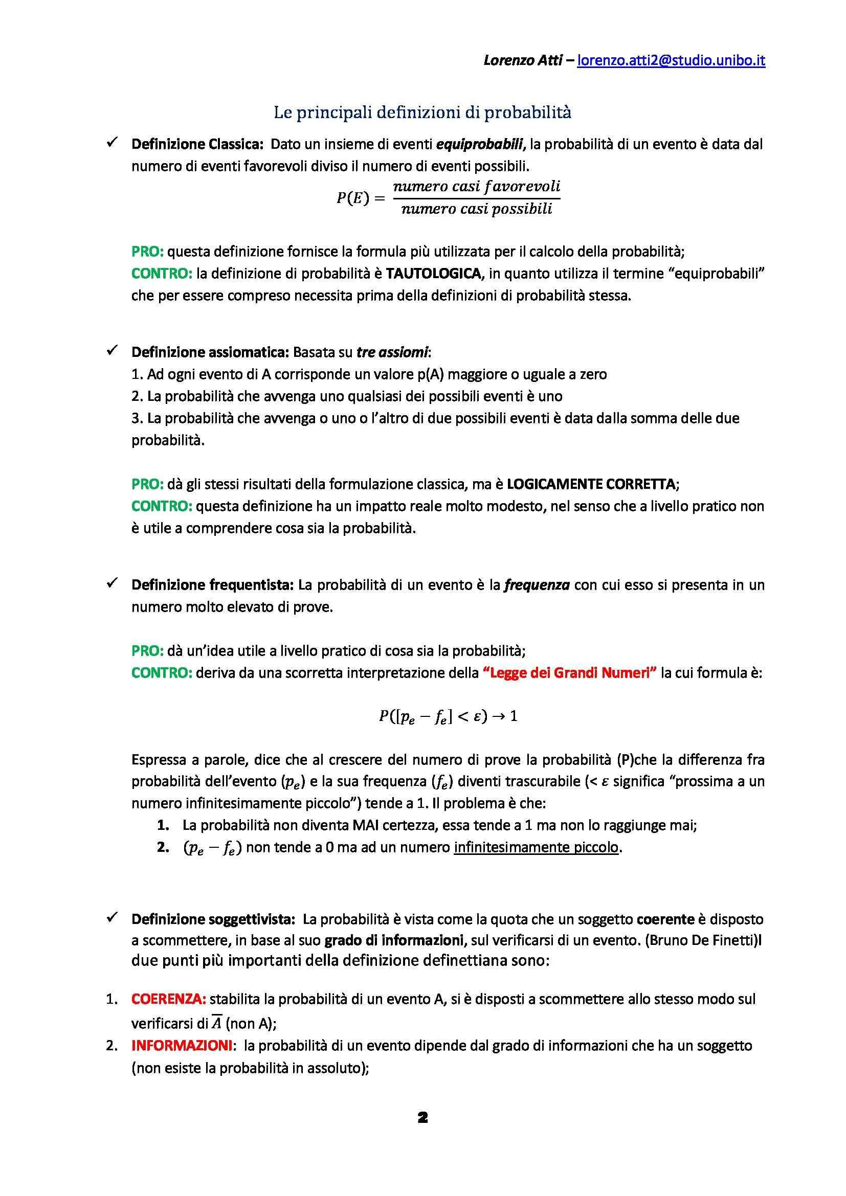 Statistica psicometrica - Appunti Pag. 2