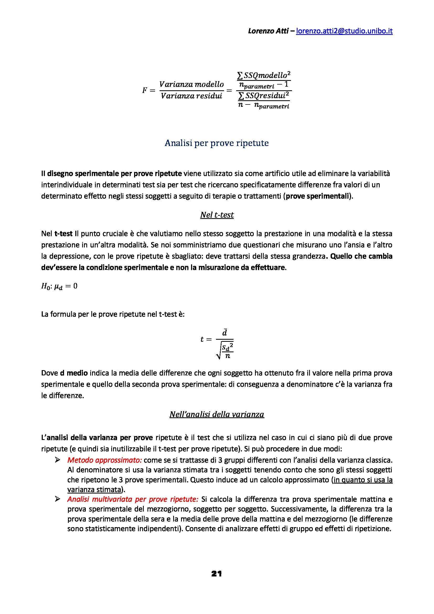 Statistica psicometrica - Appunti Pag. 21