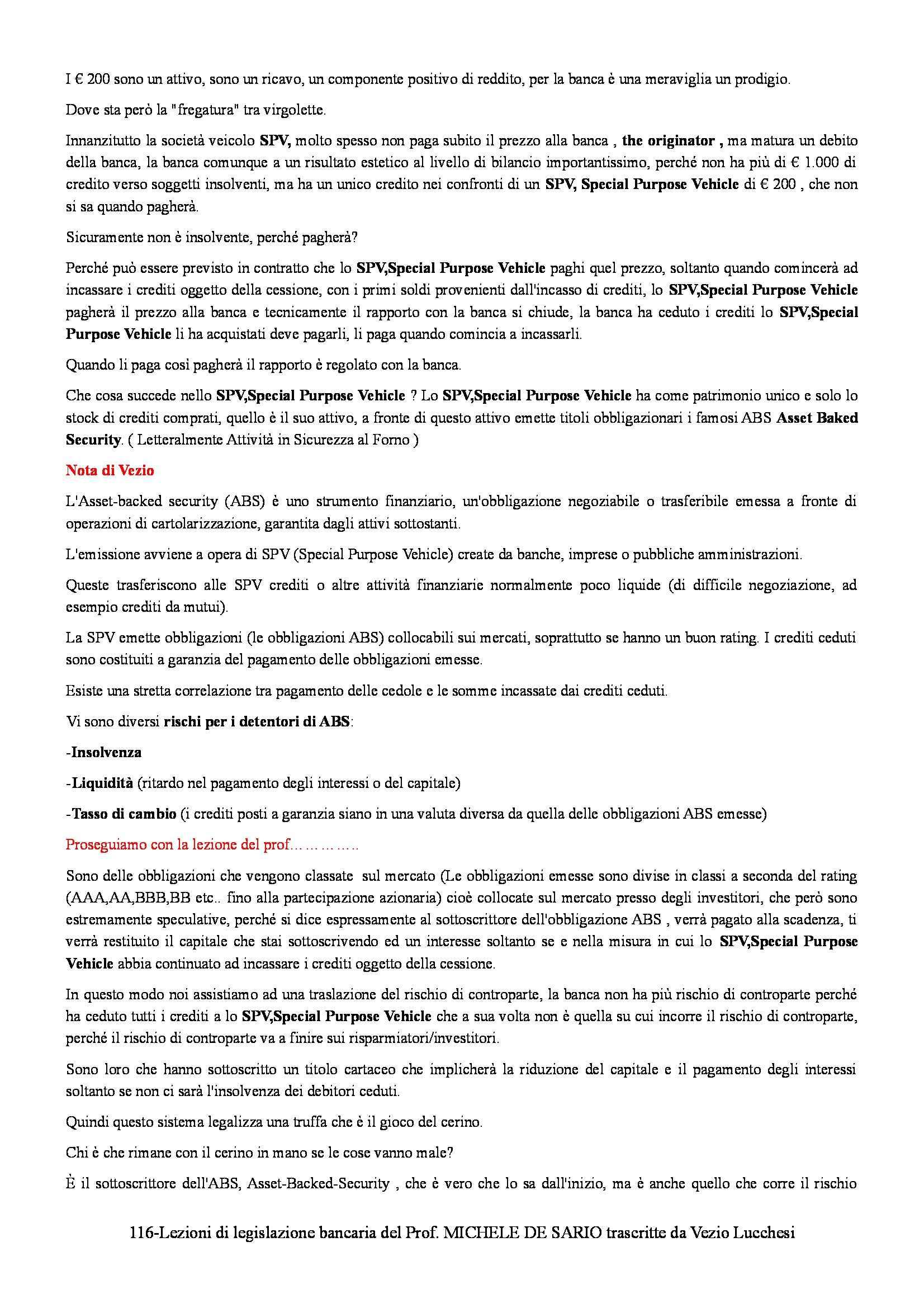 Legislazione bancaria - lezioni Pag. 116