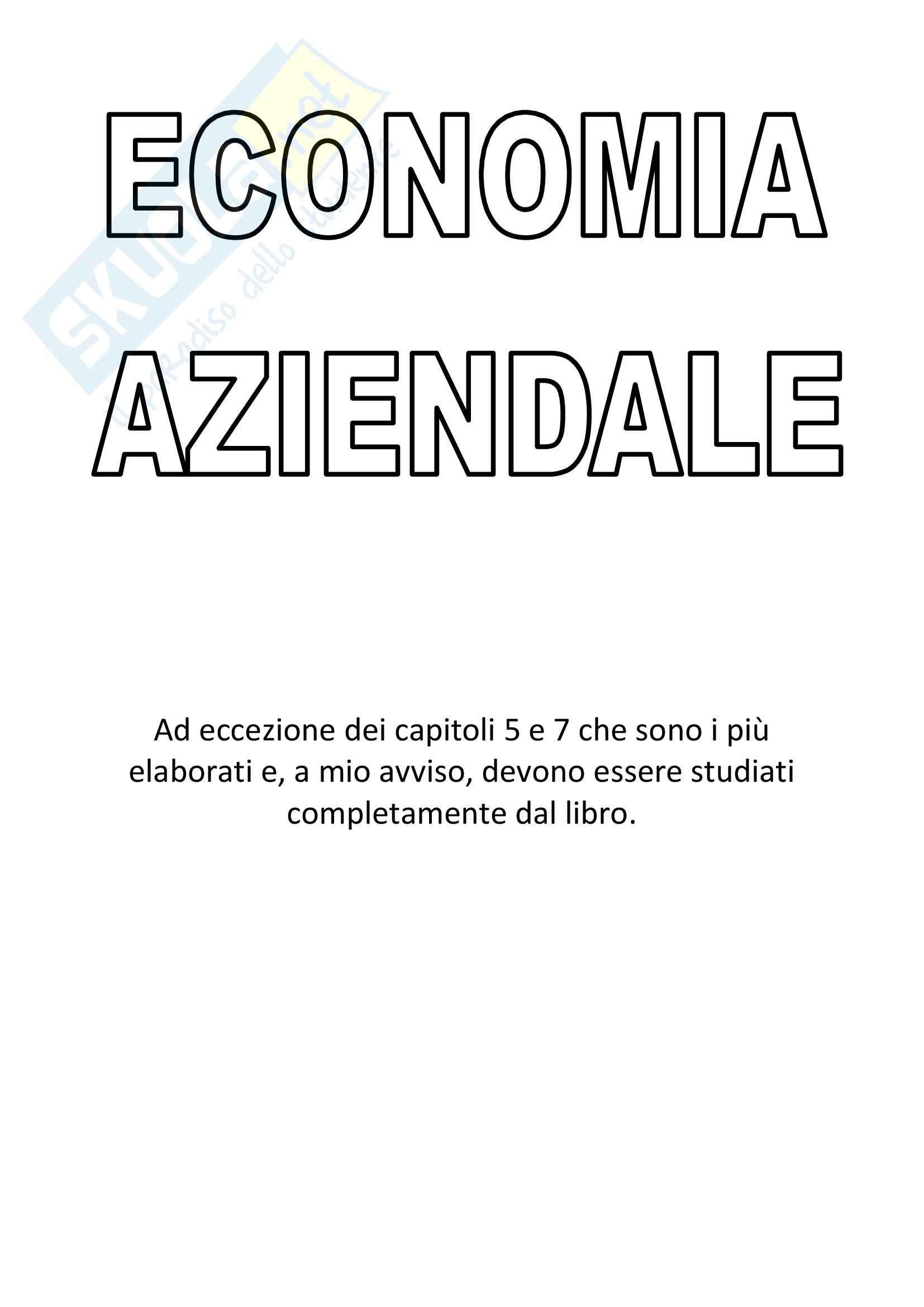 Riassunto esame Economia aziendale, prof. Magli, libro consigliato I fondamenti dell'economia e strategia aziendale, Saita