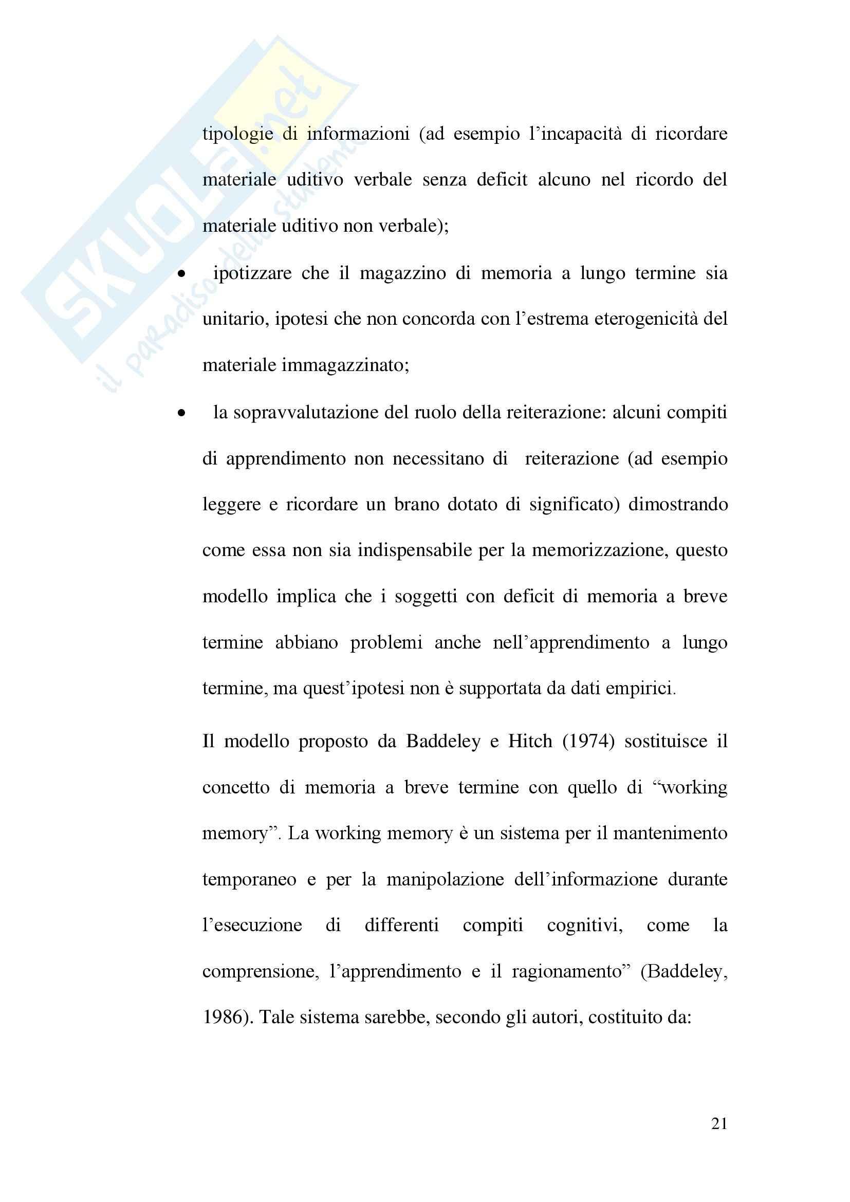 Tesi - Effetti della reiterazione subvocalica in un compito di discriminazione temporale Pag. 21