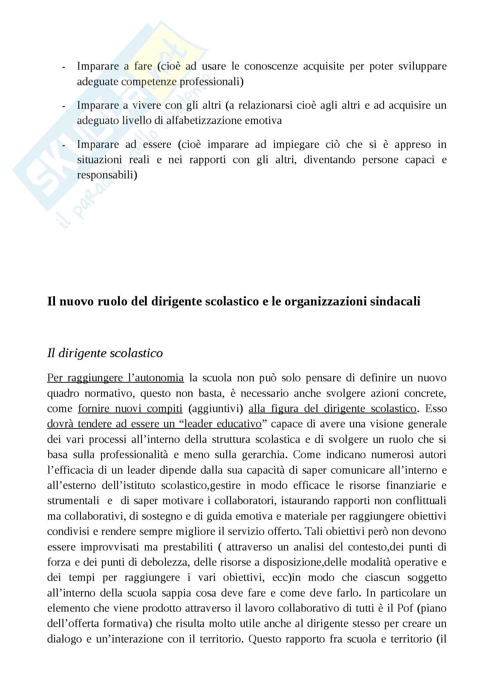 Riassunto esame Sociologia, prof. Cocozza, libro consigliato Il sistema scuola, Cocozza Pag. 11
