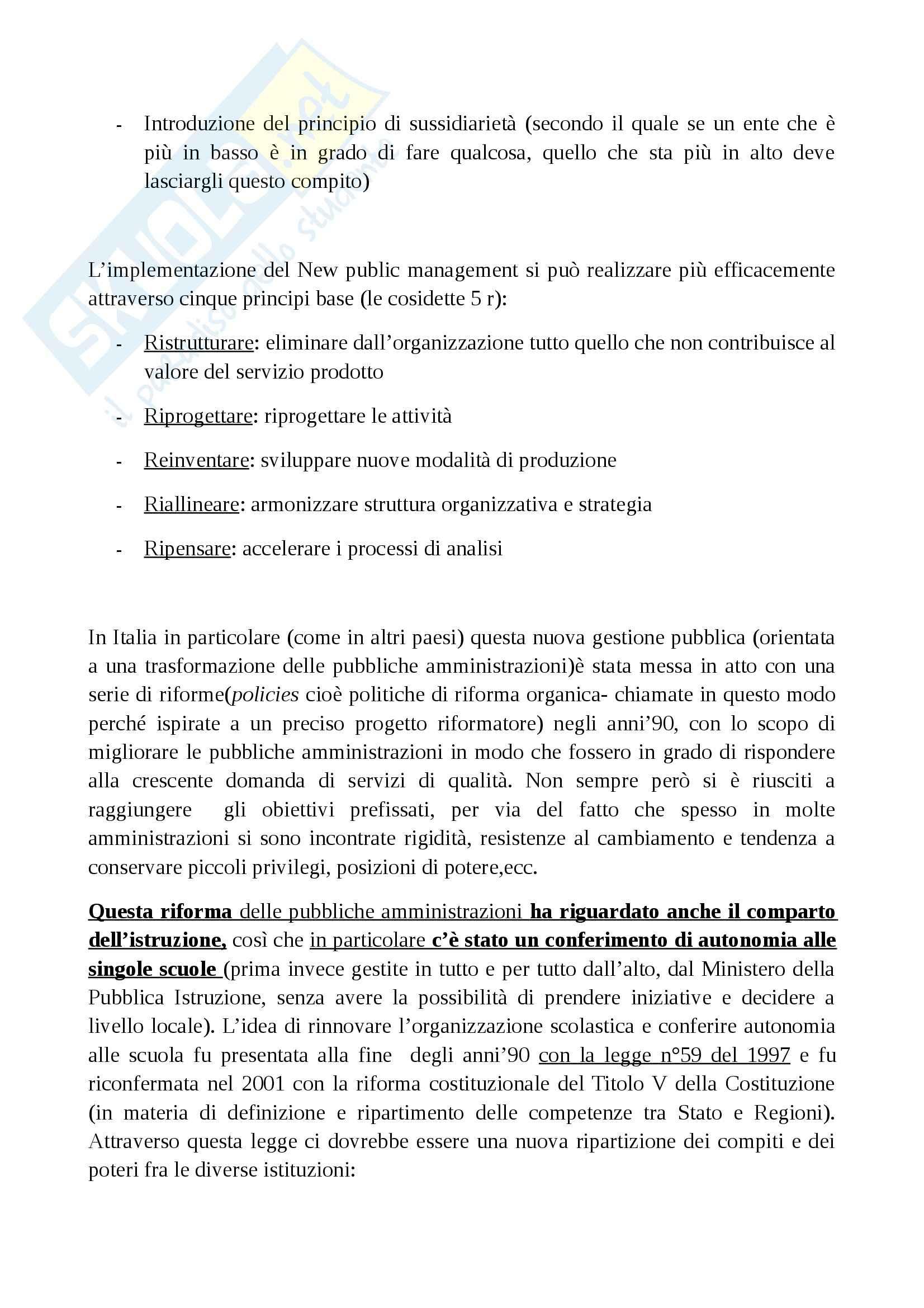 Riassunto esame Sociologia, prof. Cocozza, libro consigliato Il sistema scuola, Cocozza Pag. 2
