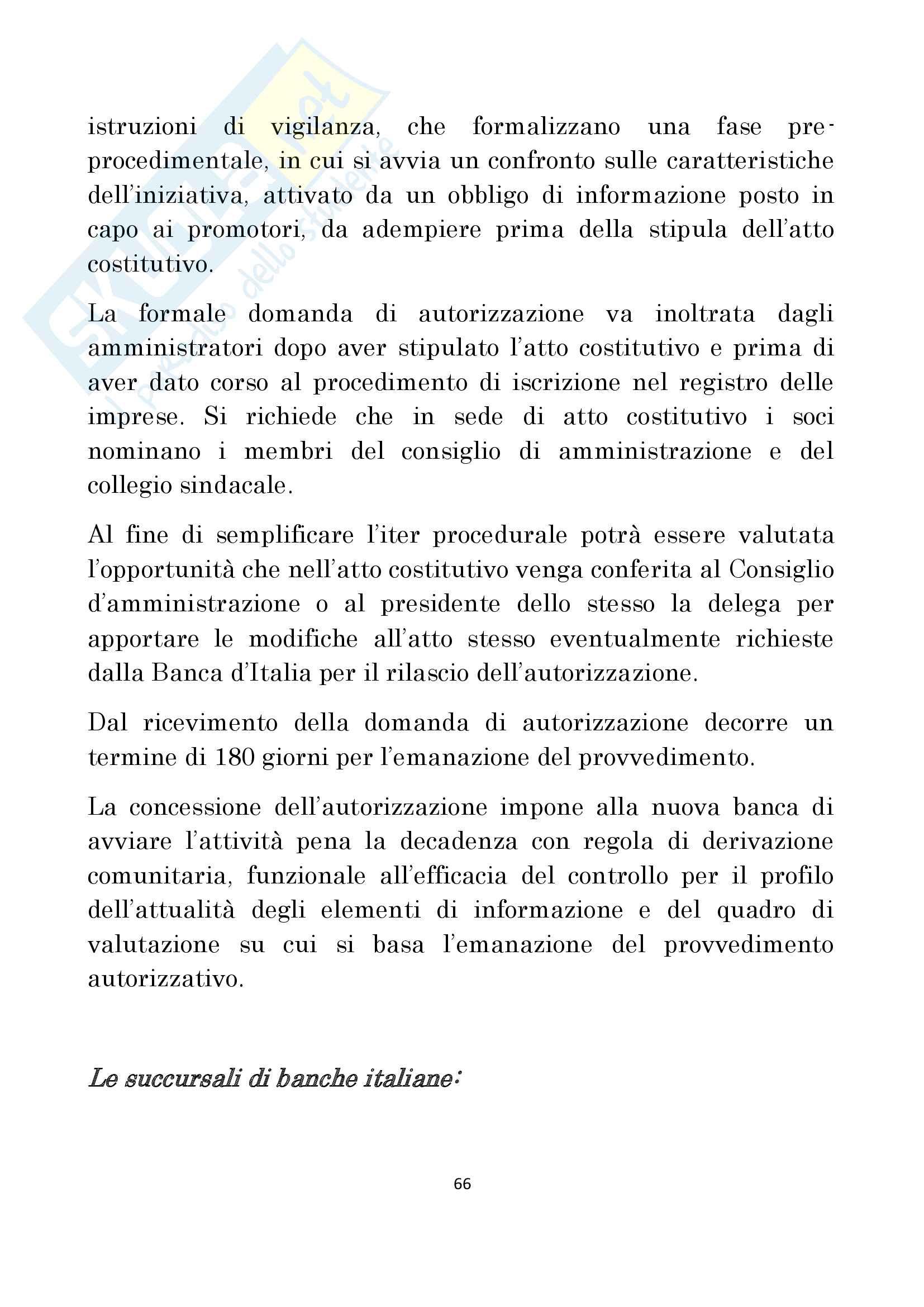 Diritto delle Banche prof Antonucci Pag. 66