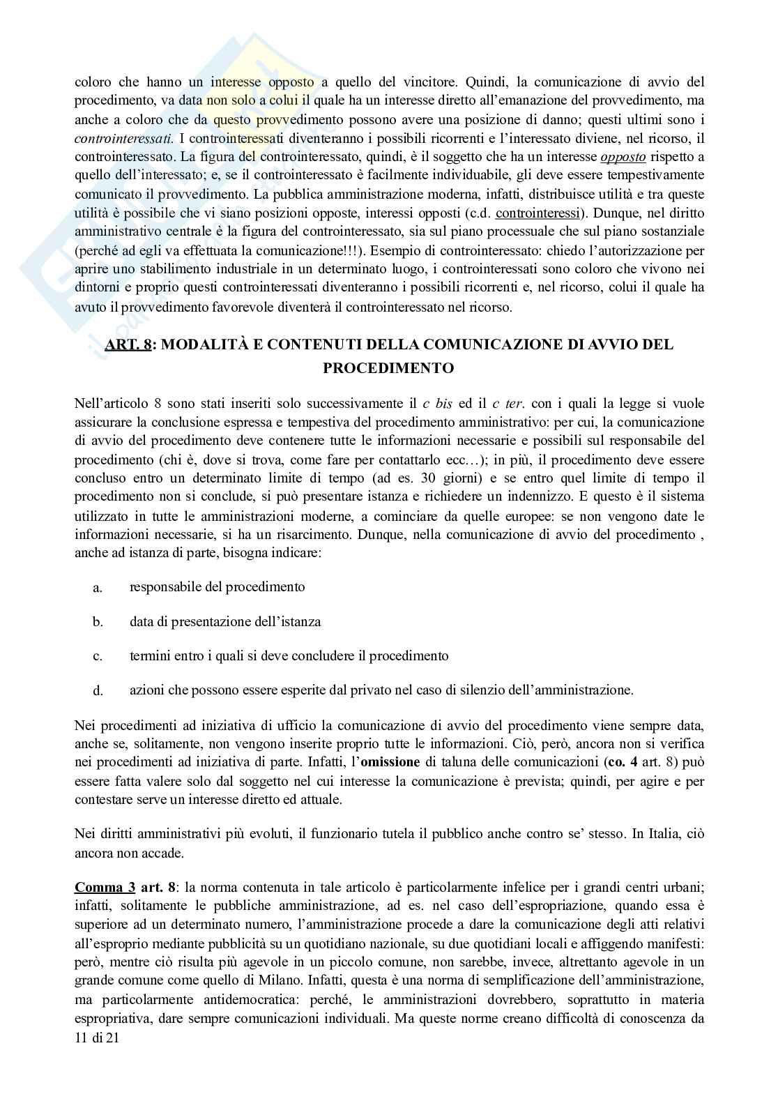 Appunti di Diritto Amministrativo: legge sul procedimento amministrativo (L. 241/1990) commentata Pag. 11