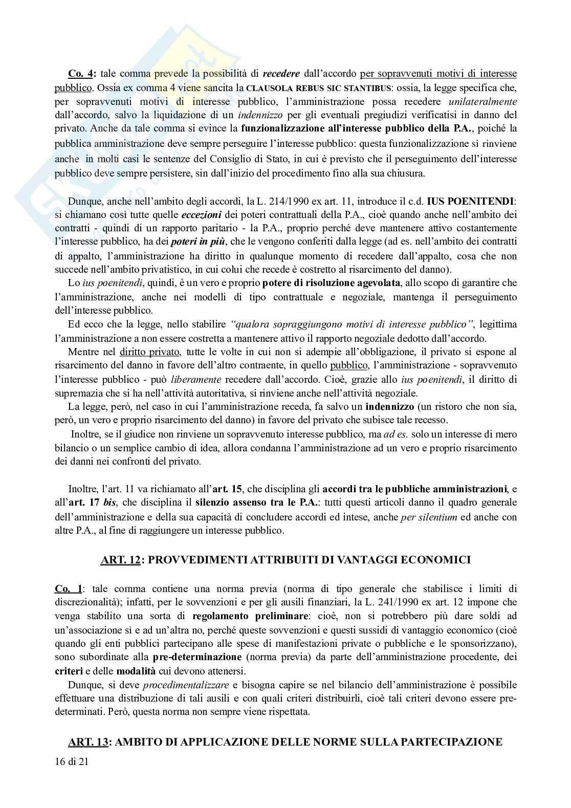Appunti di Diritto Amministrativo: legge sul procedimento amministrativo (L. 241/1990) commentata Pag. 16