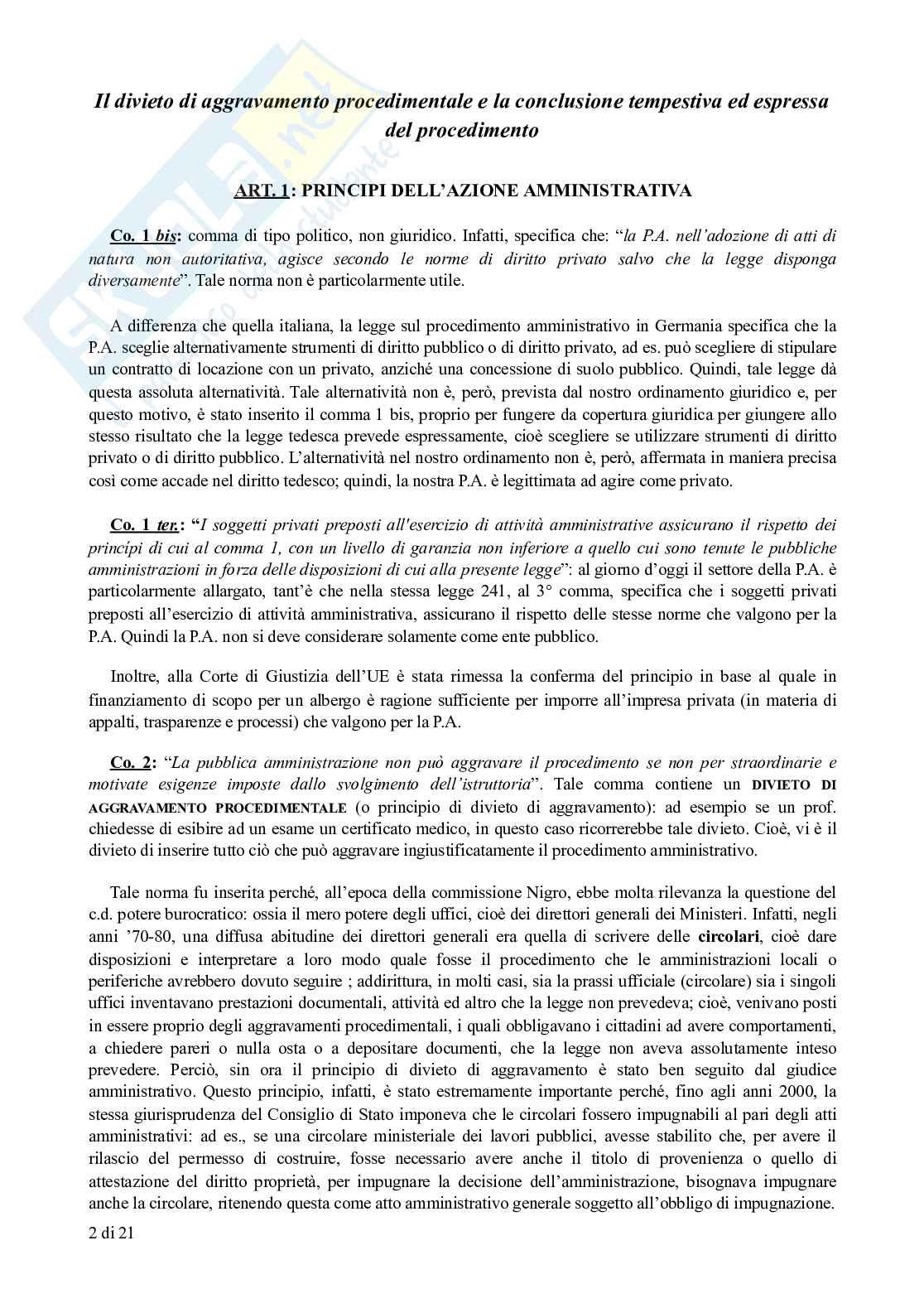 Appunti di Diritto Amministrativo: legge sul procedimento amministrativo (L. 241/1990) commentata Pag. 2