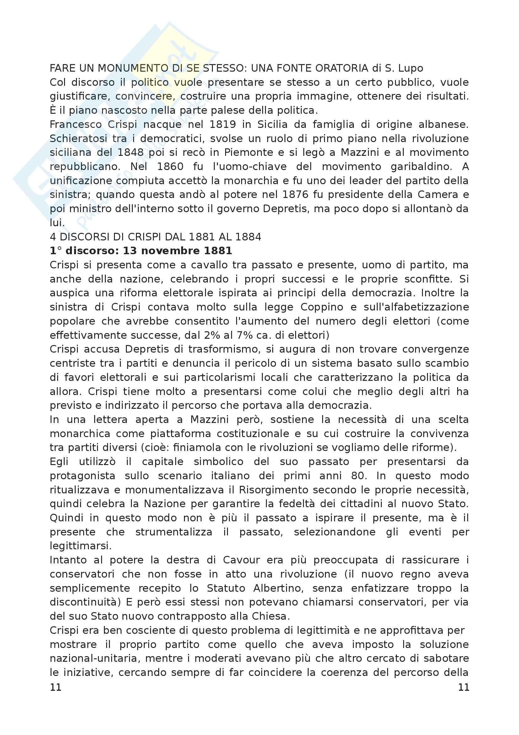 Riassunto esame Storia moderna, prof. Arcangeli, libro consigliato Prima lezione di metodo storico, Luzzatto Pag. 11