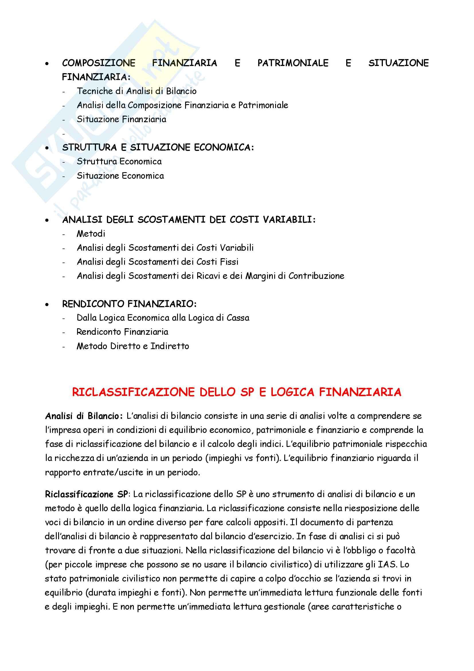 Appunti completi Controllo di gestione Pag. 2