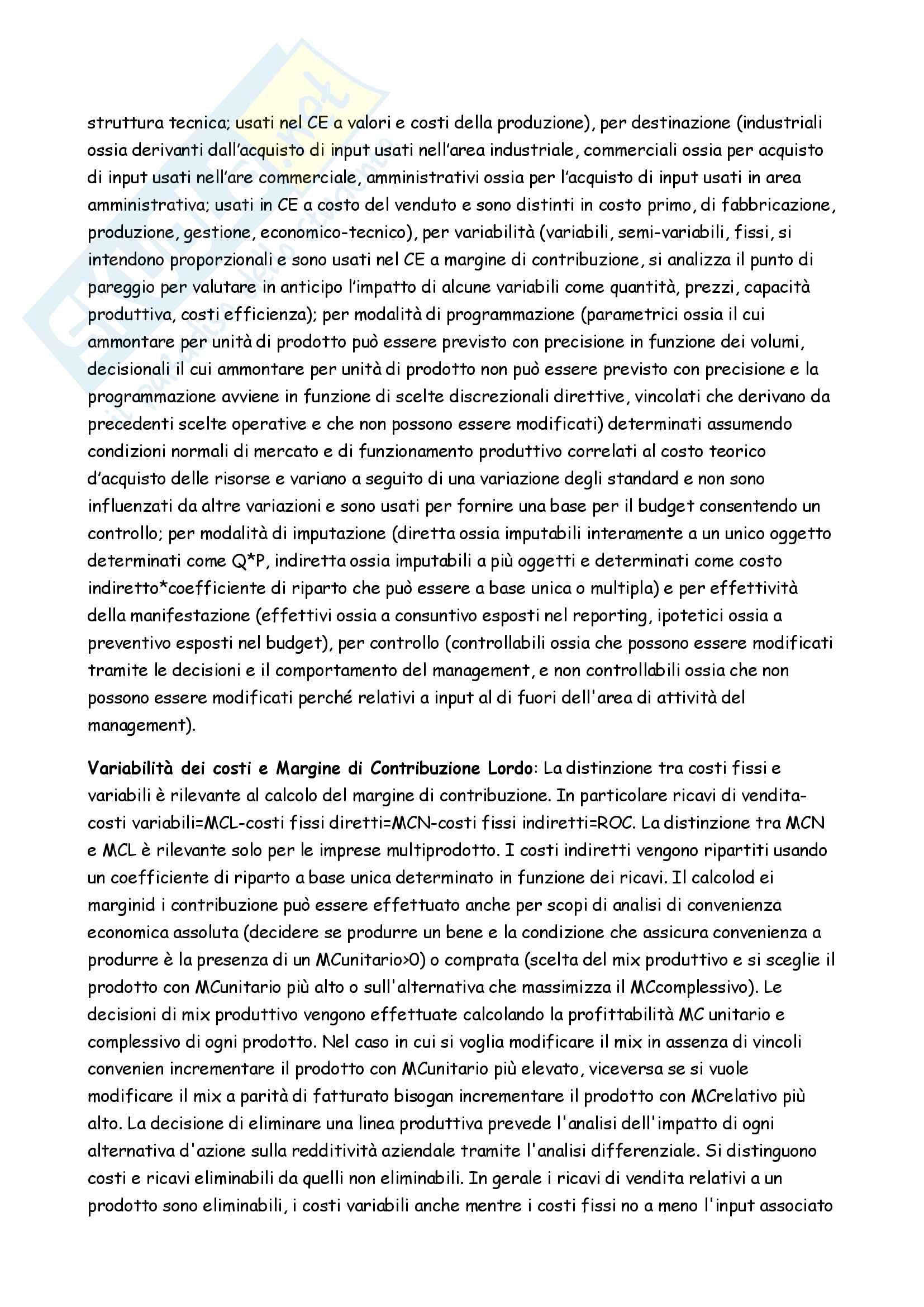 Appunti completi Controllo di gestione Pag. 6