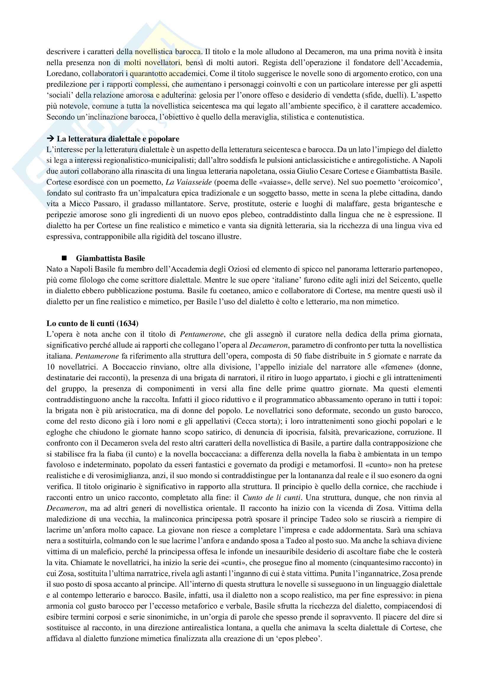 Riassunto esame Letteratura italiana 2, prof. Puggioni, libro consigliato Manuale di letteratura medievale e moderna, Casadei, Santagata Pag. 11