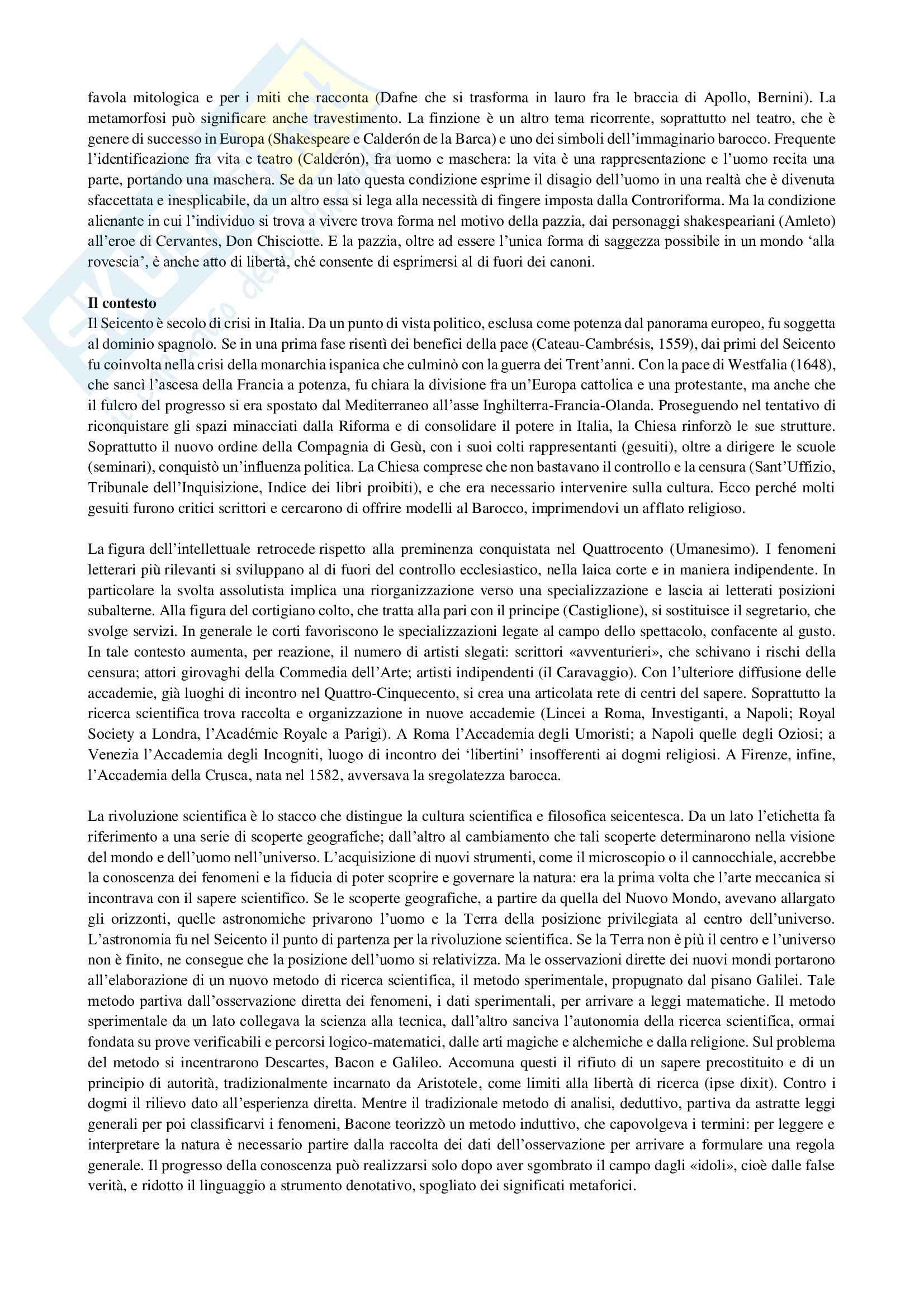 Riassunto esame Letteratura italiana 2, prof. Puggioni, libro consigliato Manuale di letteratura medievale e moderna, Casadei, Santagata Pag. 2