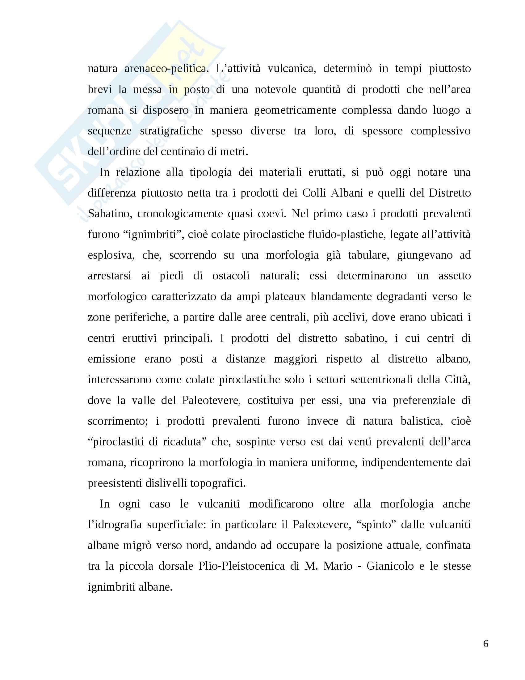 Relazione Analisi di stabilità dei versanti Monte Mario (RM) Pag. 6