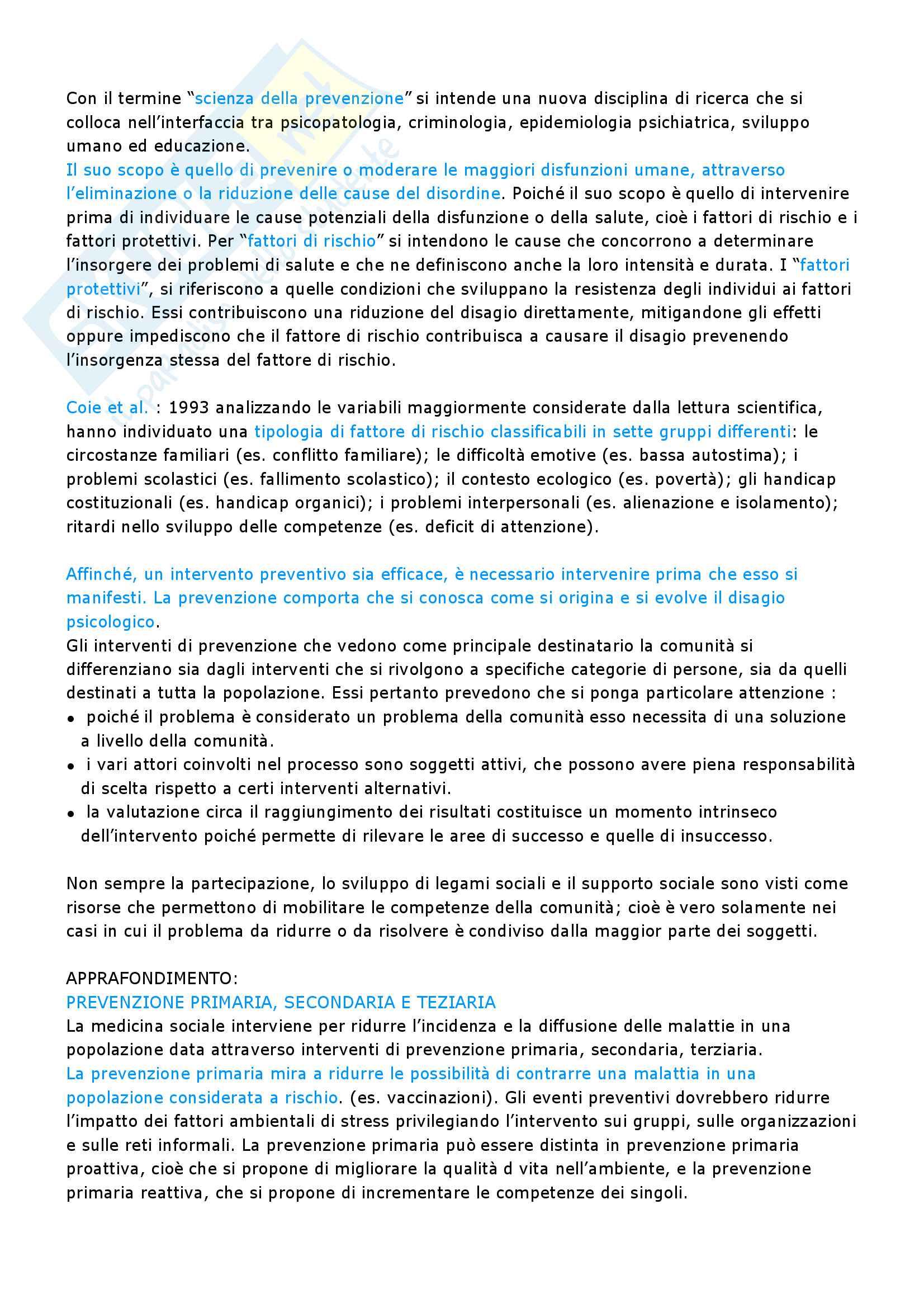 Riassunto esame psicologia di comunità, prof Giovannini. Libro consigliato Individui e contesti in psicologia di comunità Pag. 16