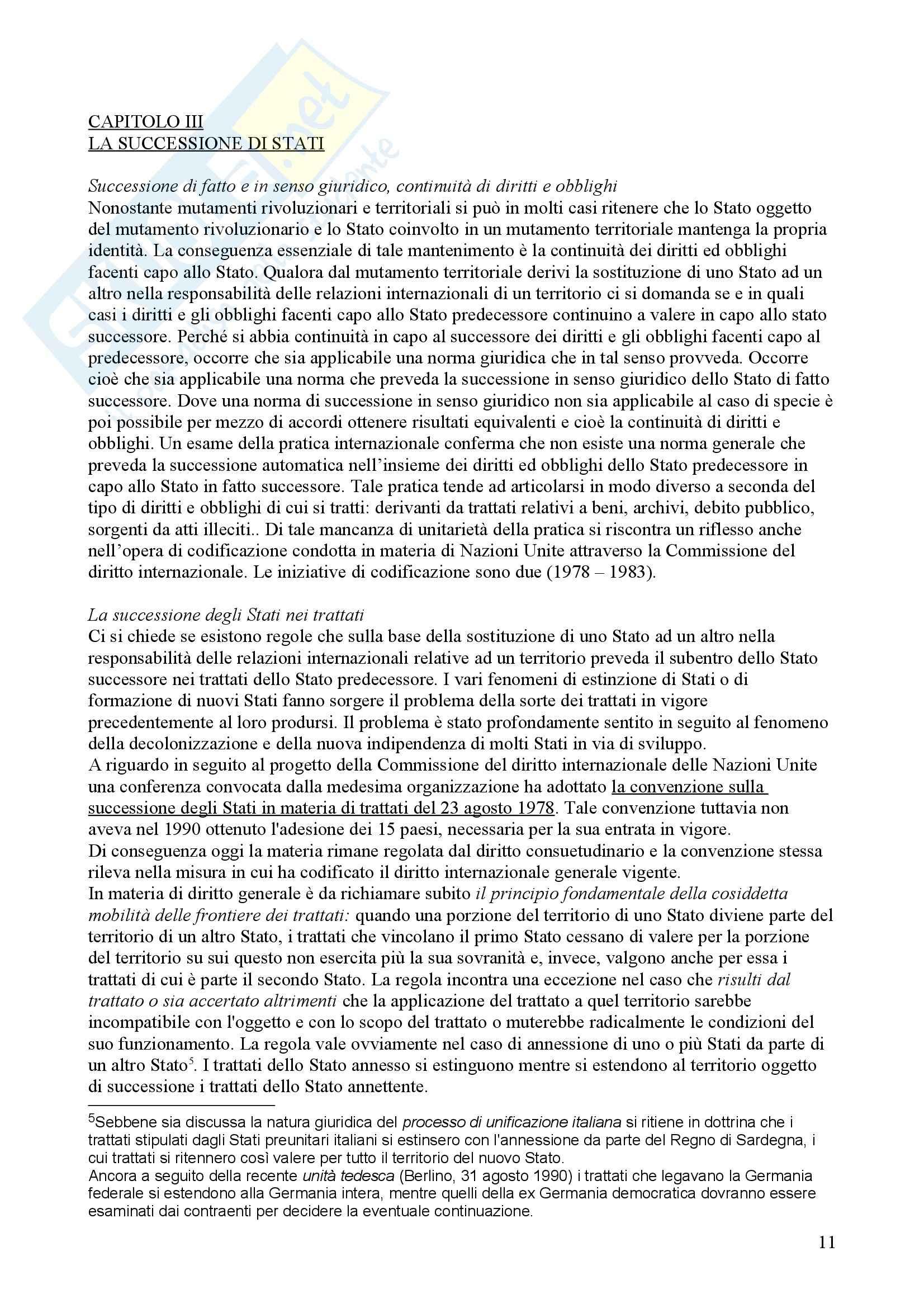 Riassunto esame Diritto internazionale, prof. Treves Pag. 11