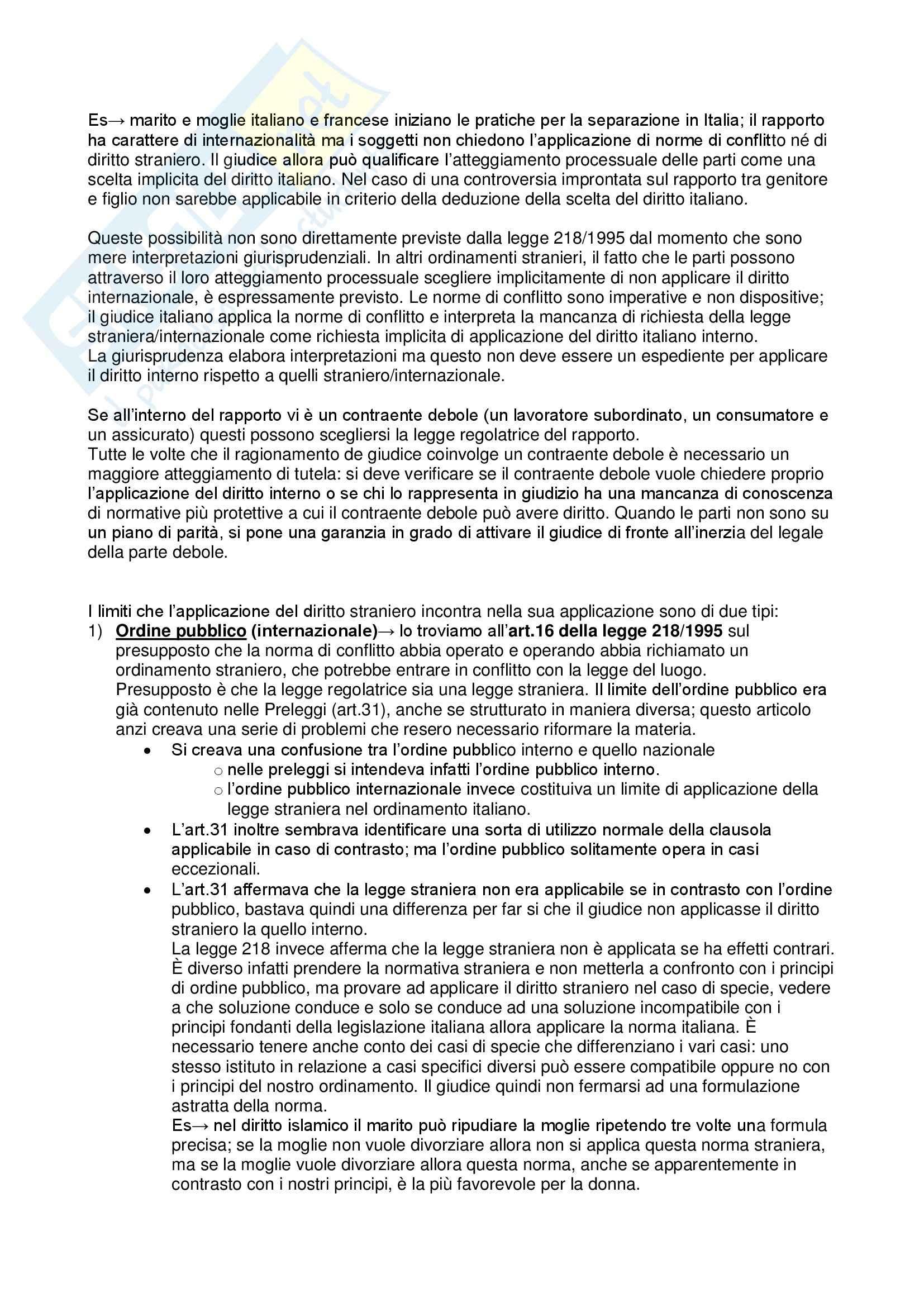 Appunti delle lezioni di diritto internazionale (privato e pubblico) della professoressa Ilaria Queirolo Pag. 11