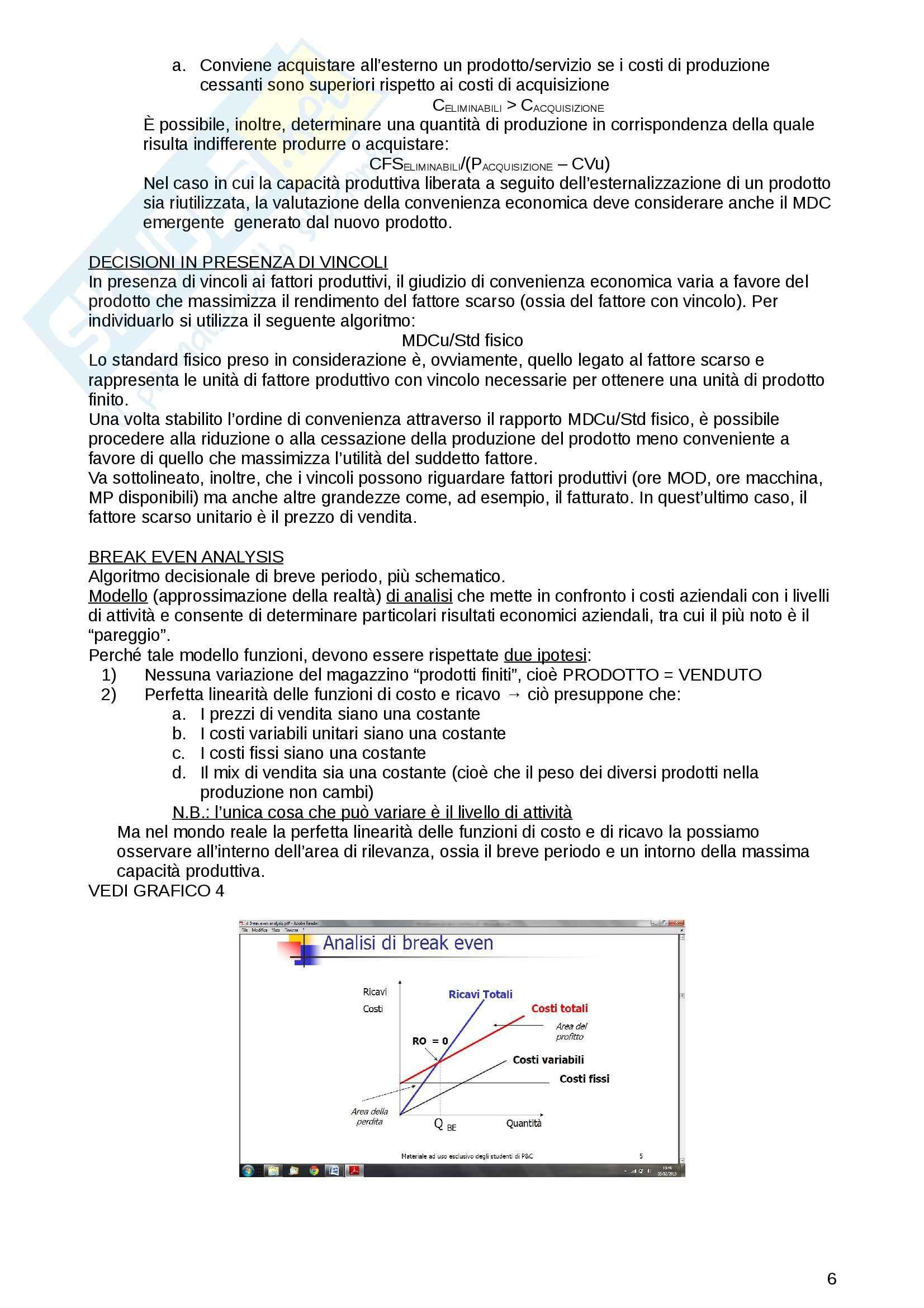 Riassunto esame Programmazione e controllo, prof. Sacco, libro consigliato I Sistemi di Programmazione e Controllo, Baraldi, Cifalinò, Sacco Pag. 6