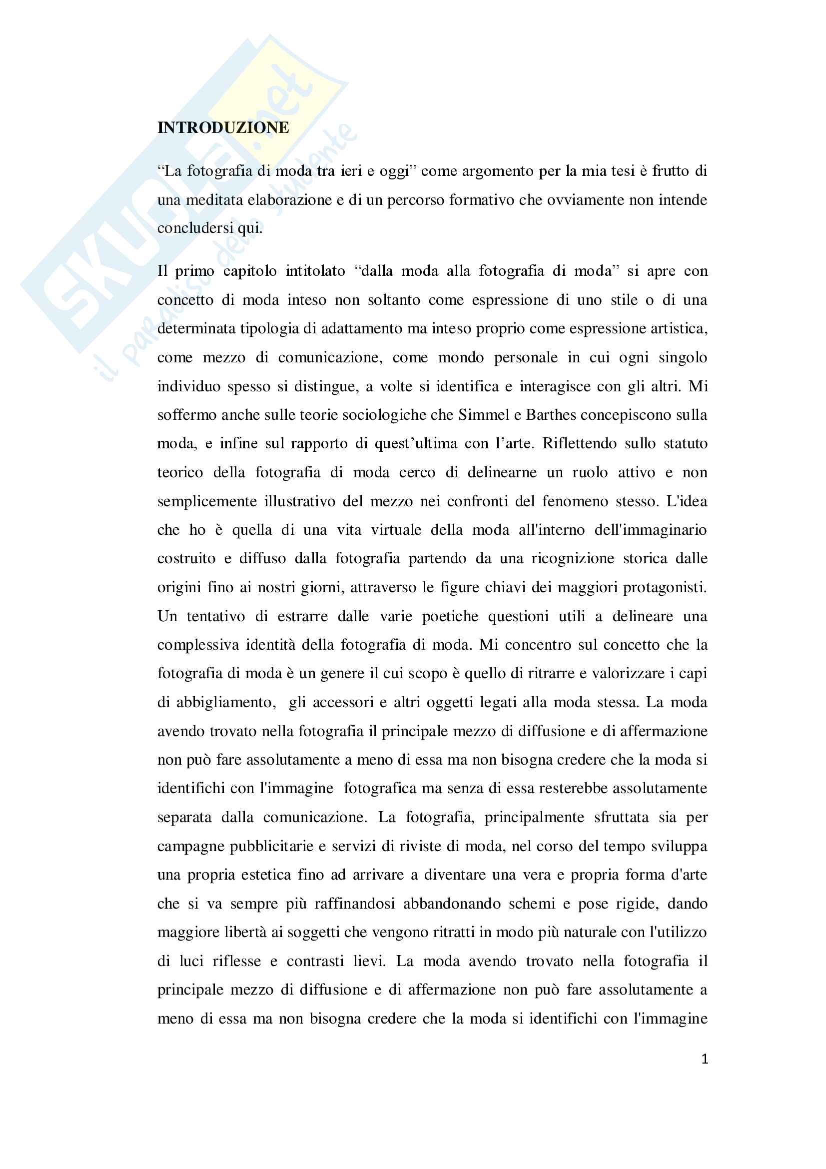tesi F. Parisi Fotografia di moda