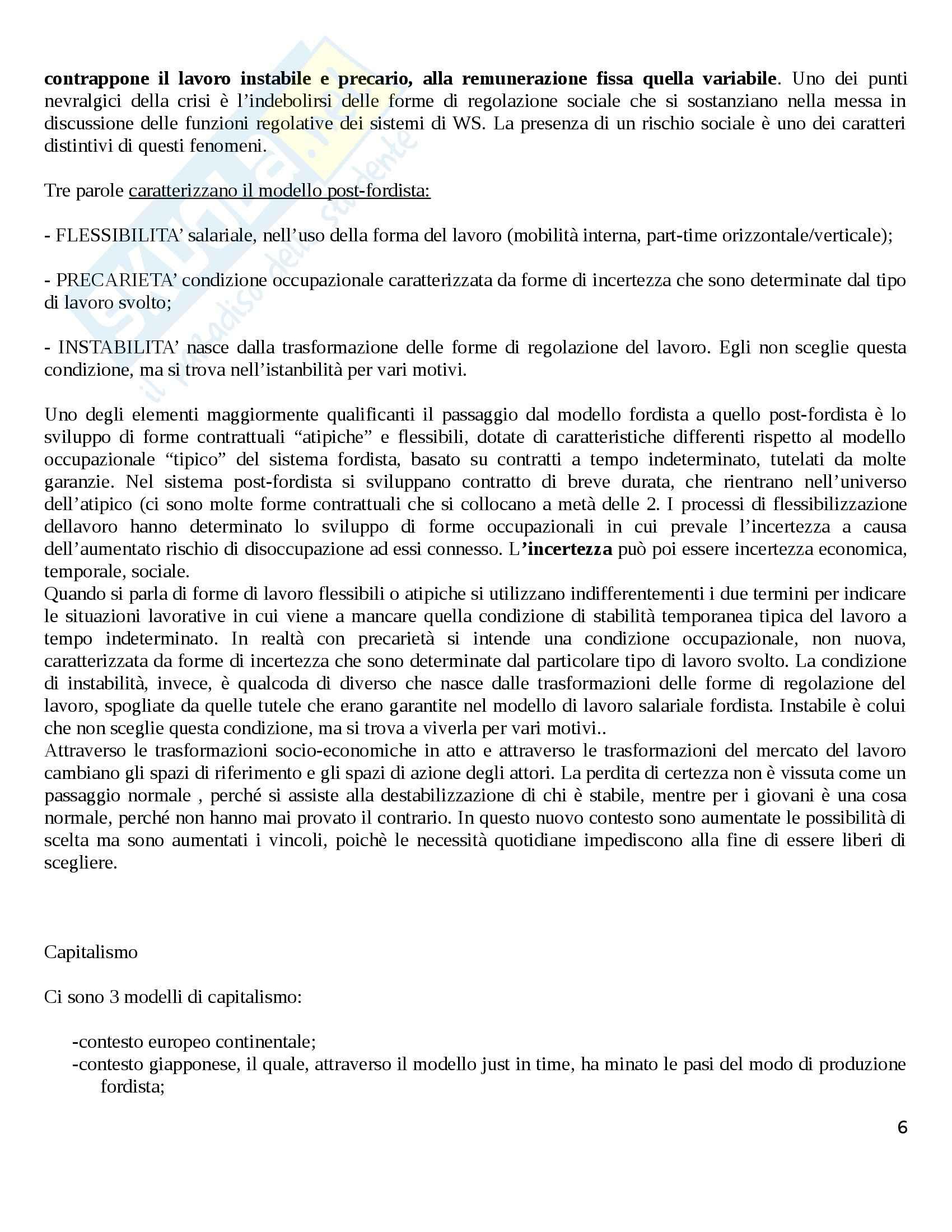 Riassunto esame Politiche Sociali, prof. Diamantini, libro consigliato Famiglie e Lavoro: Trasformazioni ed Equilibri, Migliavacca Pag. 6