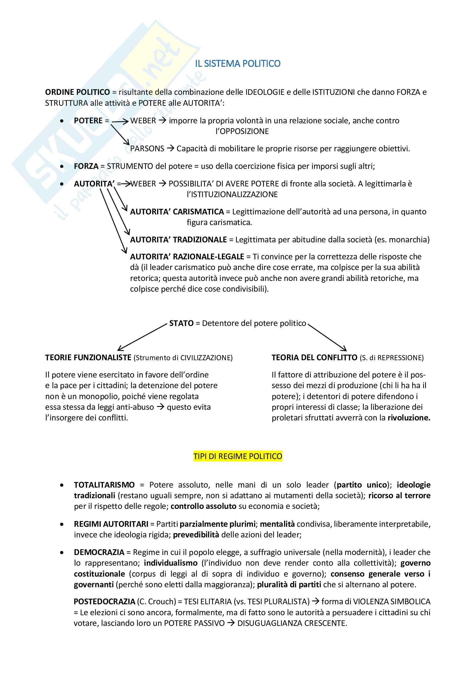 Riassunto esame Sociologia Generale, prof. Cerroni, libro consigliato Manuale di Sociologia, Smelser Pag. 16