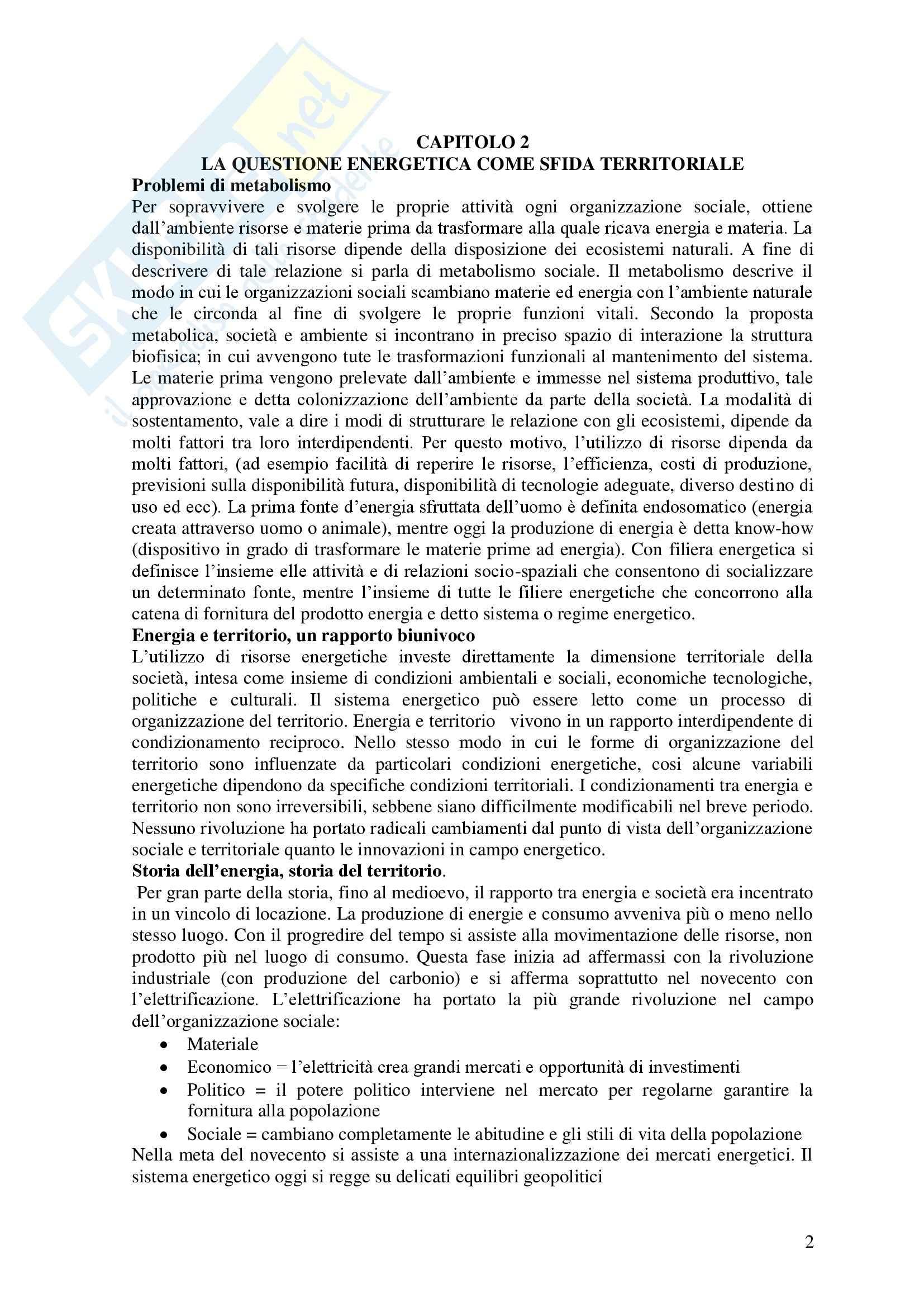 Riassunto esame Politiche del territorio e sostenibilità, libro adottato Geografia delle fonti rinnovabili, Puttili