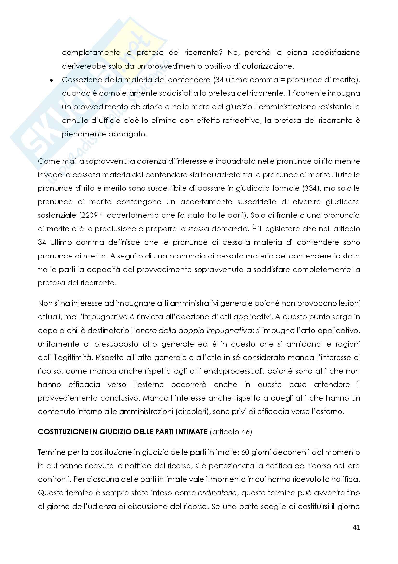 Corso di Diritto amministrativo processuale Pag. 41