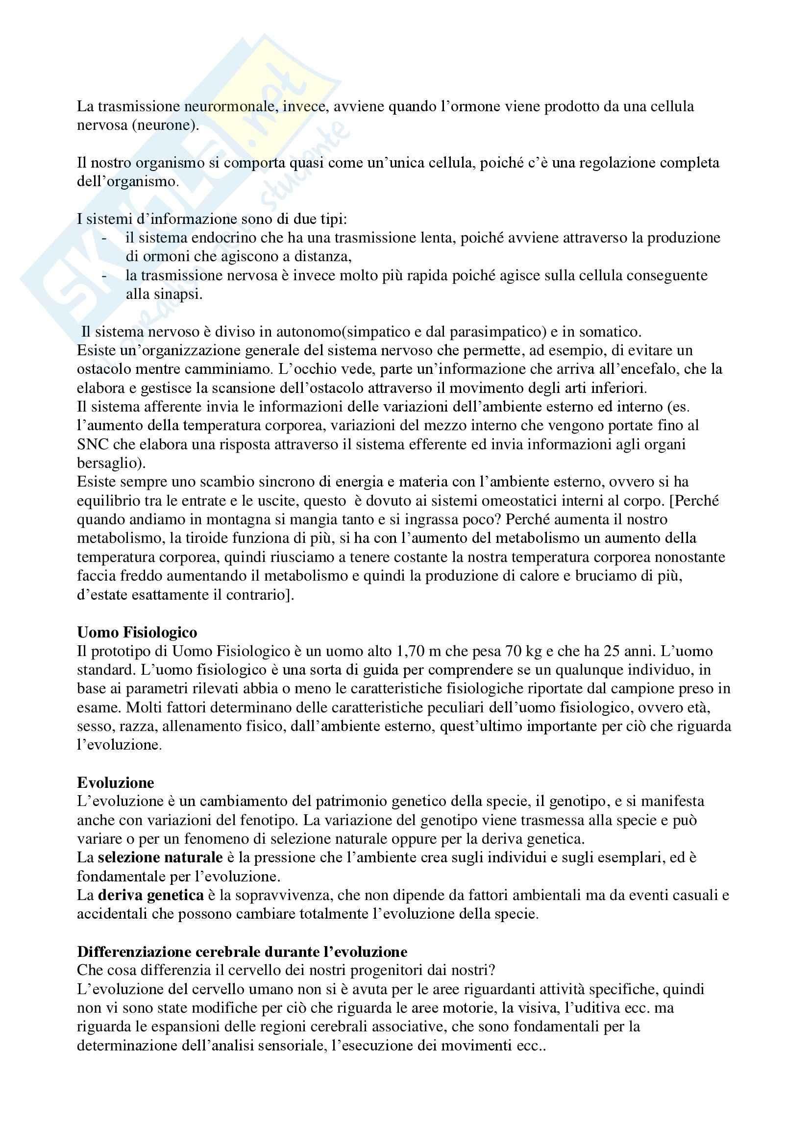 Fisiologia I - fisiologia cellulare Pag. 2