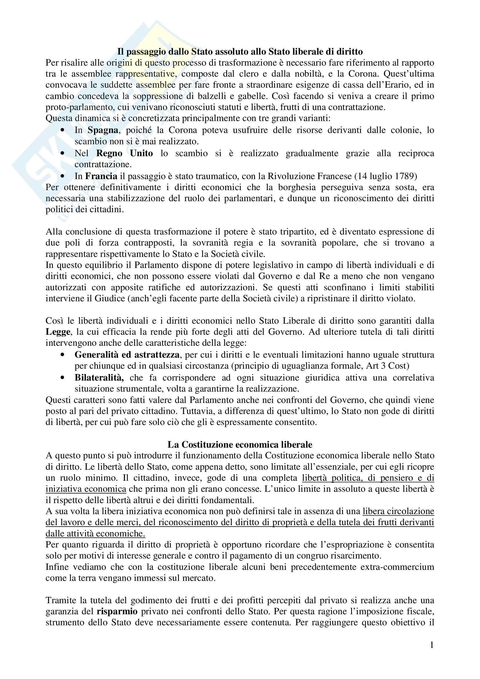 Riassunto esame Diritto dell'Economia, prof. Crisci, libro consigliato Diritto dell'Economia, di Gaspare
