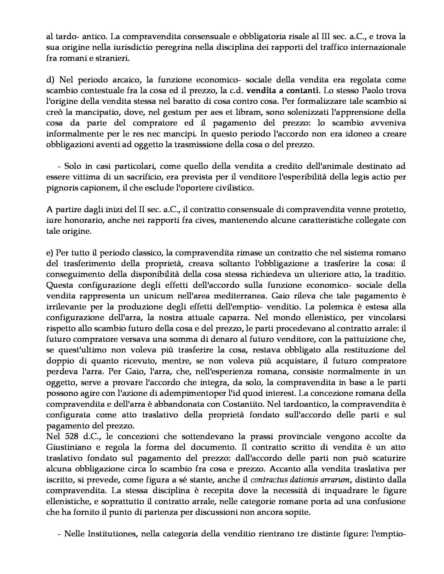 Istituzioni di diritto romano - compravendita Pag. 2