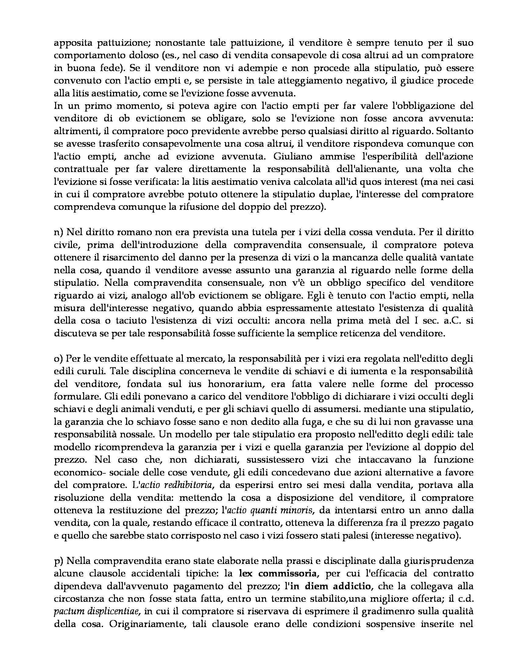 Istituzioni di diritto romano - compravendita Pag. 6