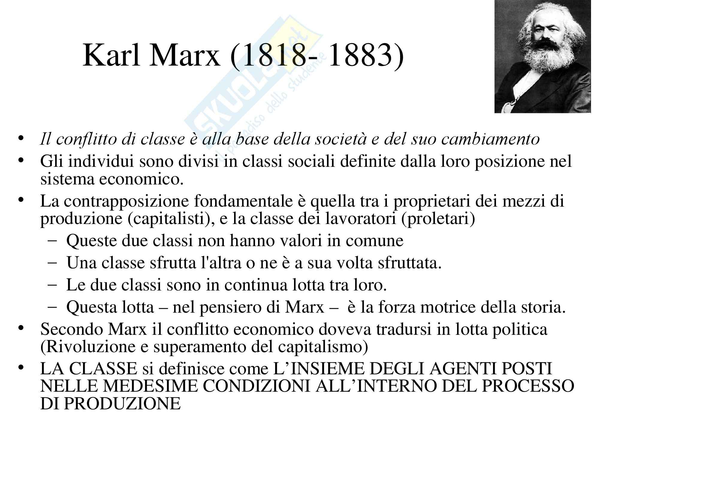 Sociologia dell'educazione - Karl Marx