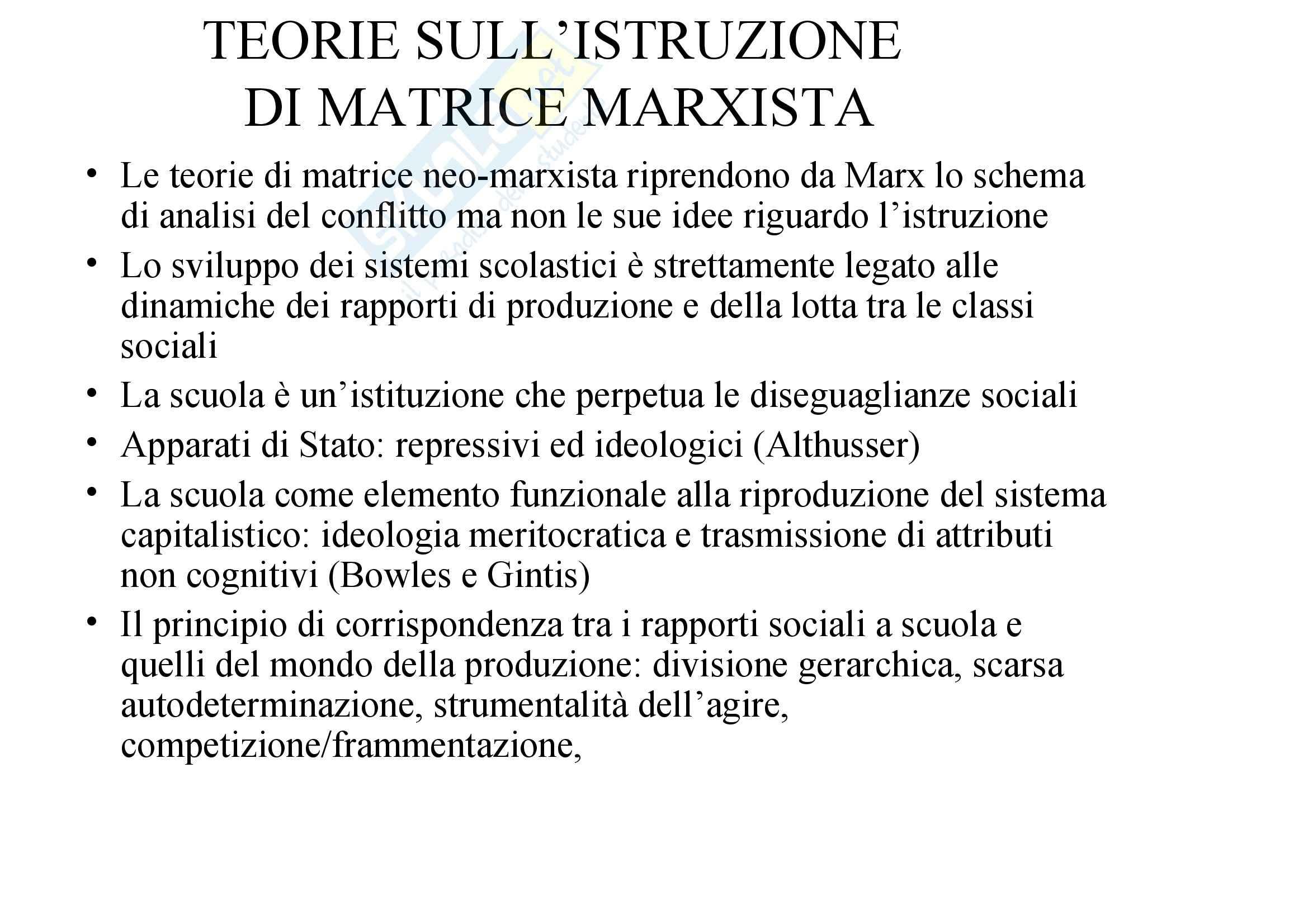 Sociologia dell'educazione - Karl Marx Pag. 2