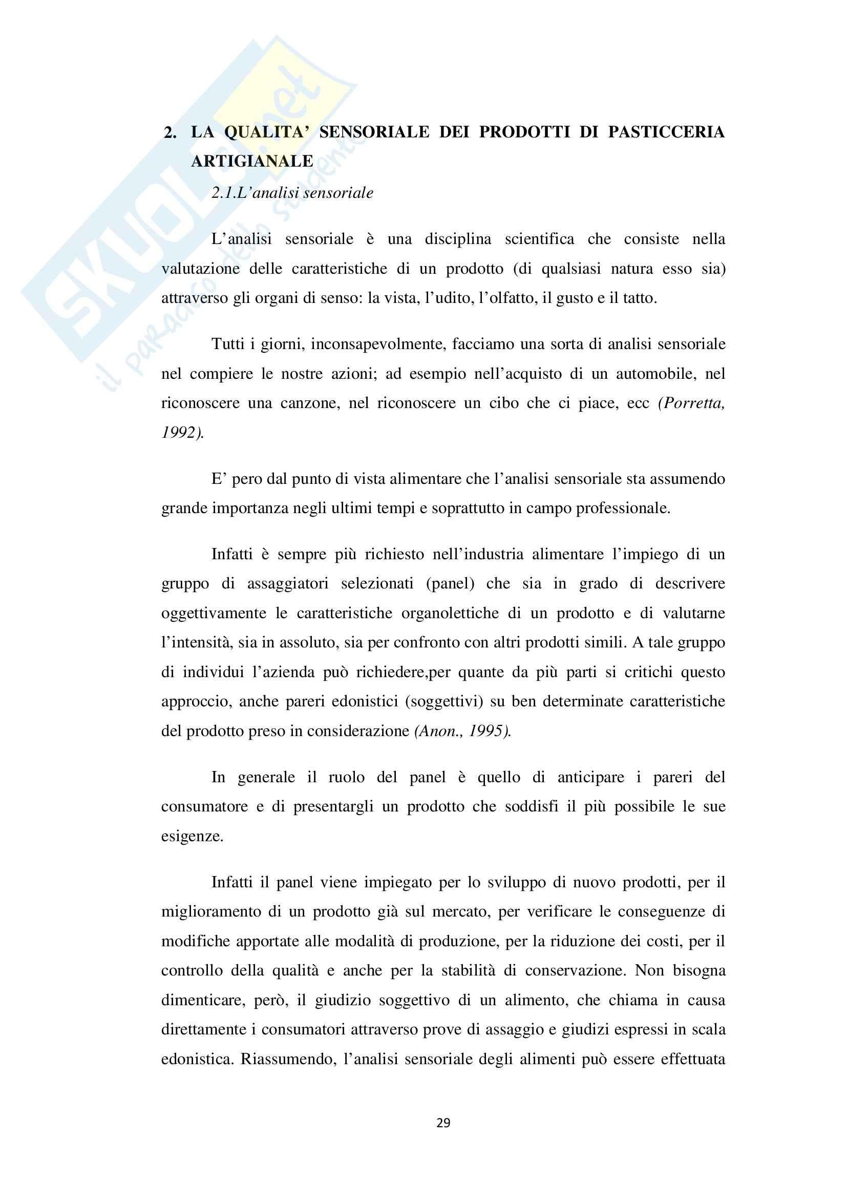 Valutazione sensoriale in prodotti di pasticceria artigianale freschi e surgelati, Analisi chimiche Pag. 31