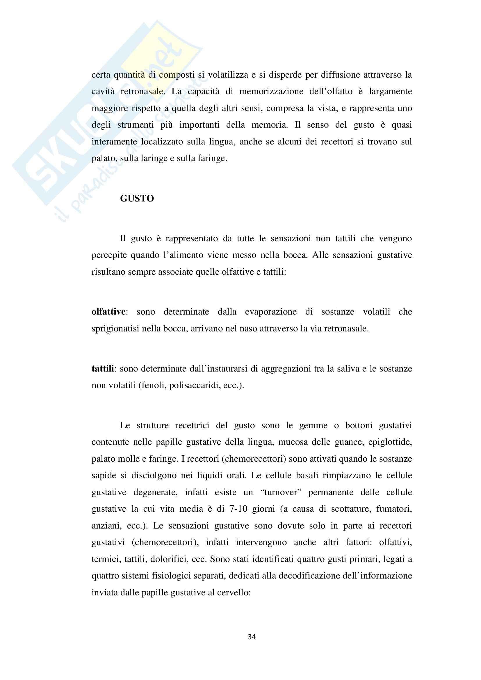 Valutazione sensoriale in prodotti di pasticceria artigianale freschi e surgelati, Analisi chimiche Pag. 36