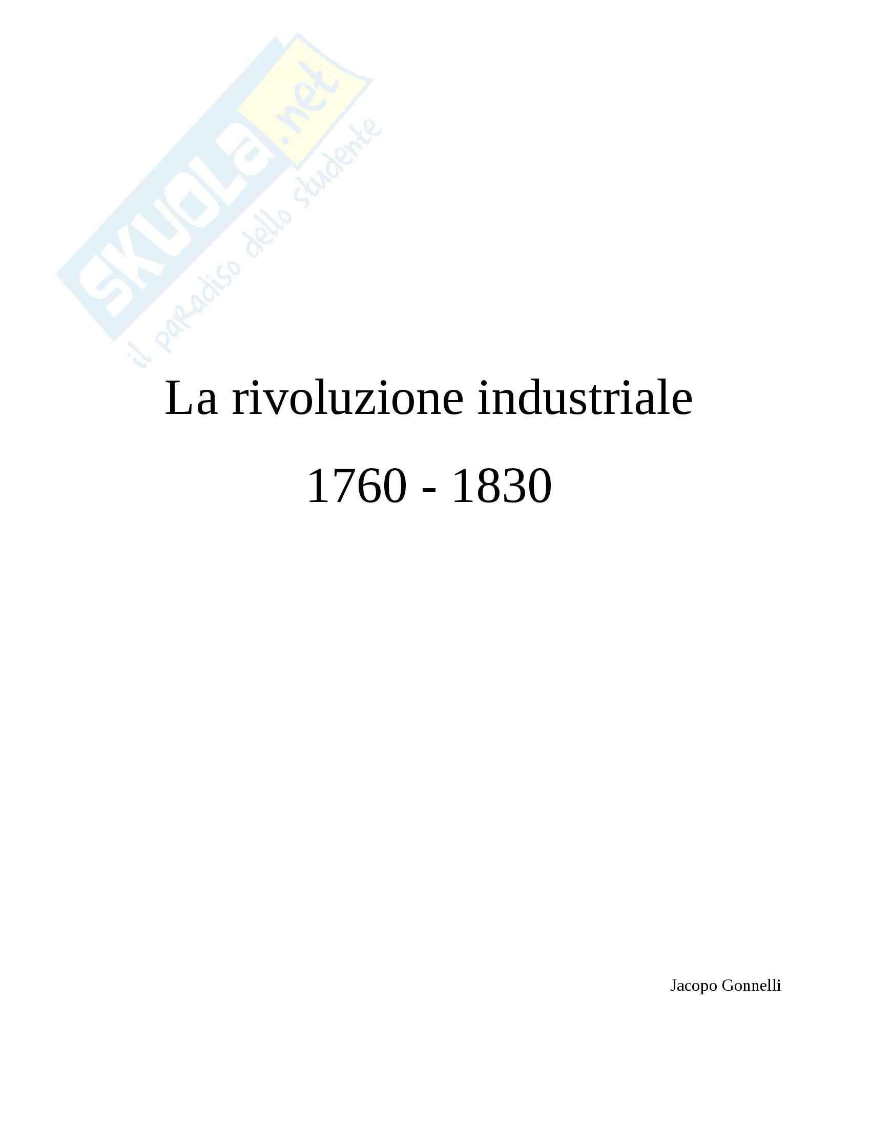 Rivoluzione Industriale 1760-1830, Storia moderna