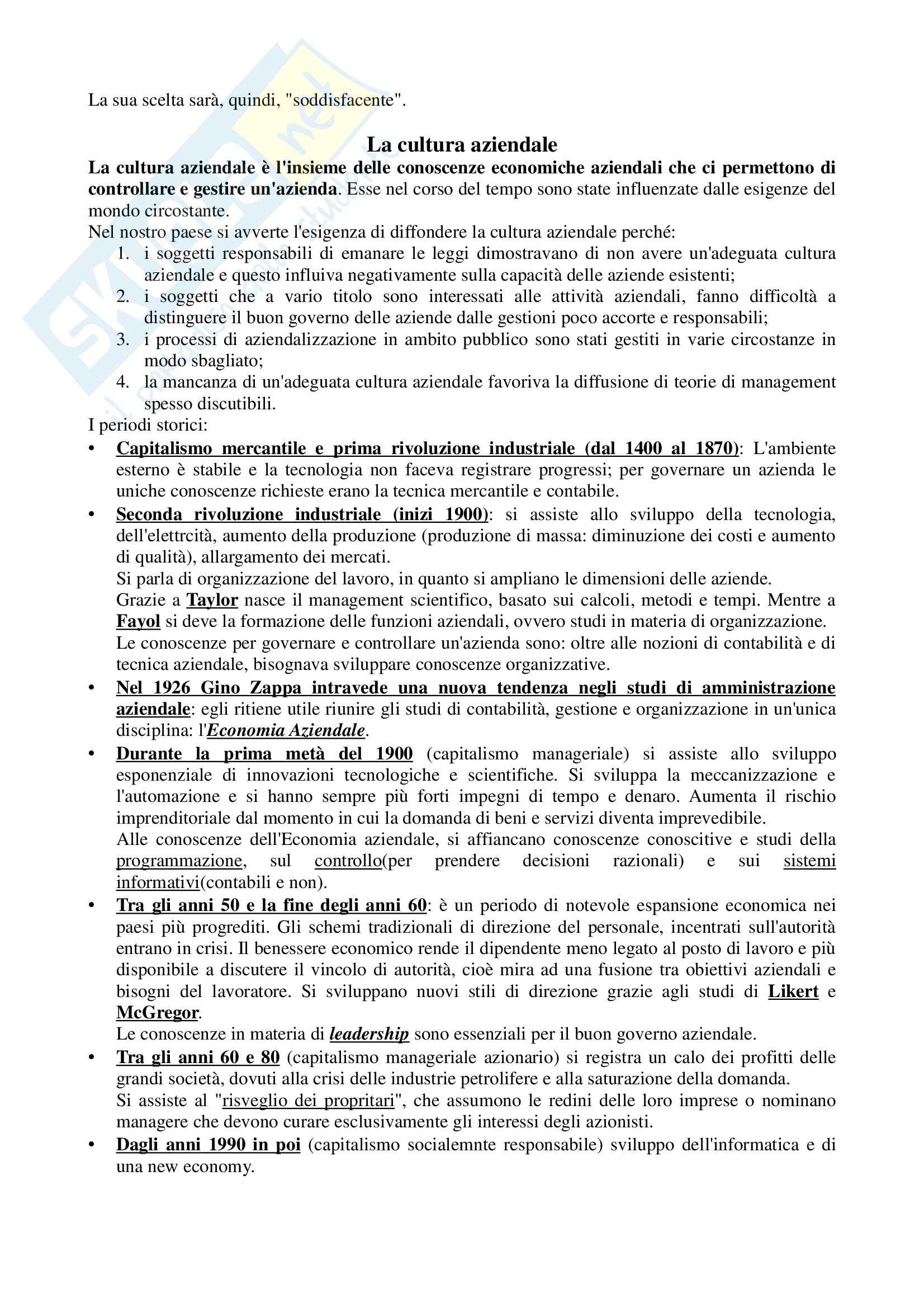 Lineamenti di economia aziendale, Zanda - Appunti Pag. 2