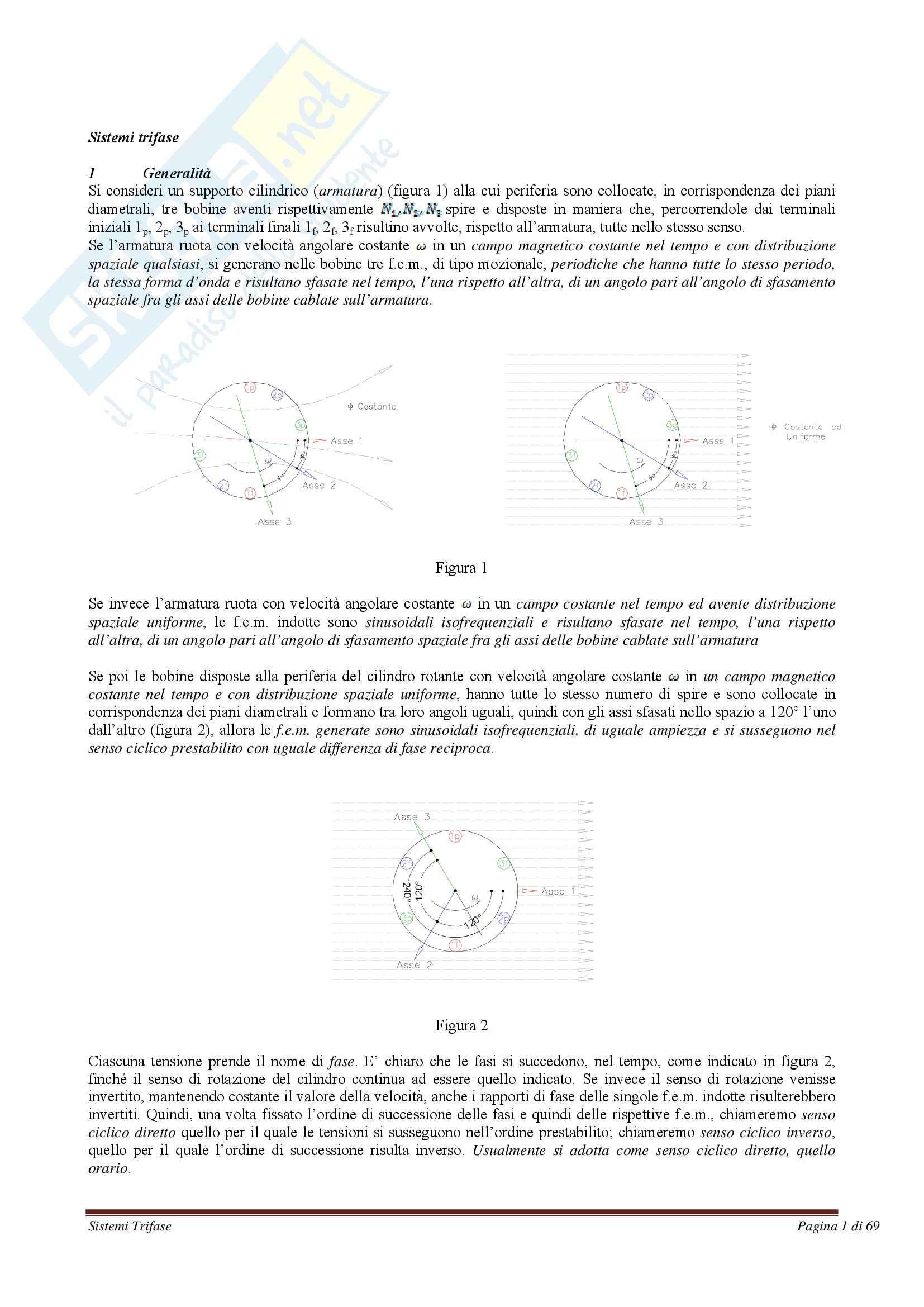 Elettrotecnica - Sistemi trifase