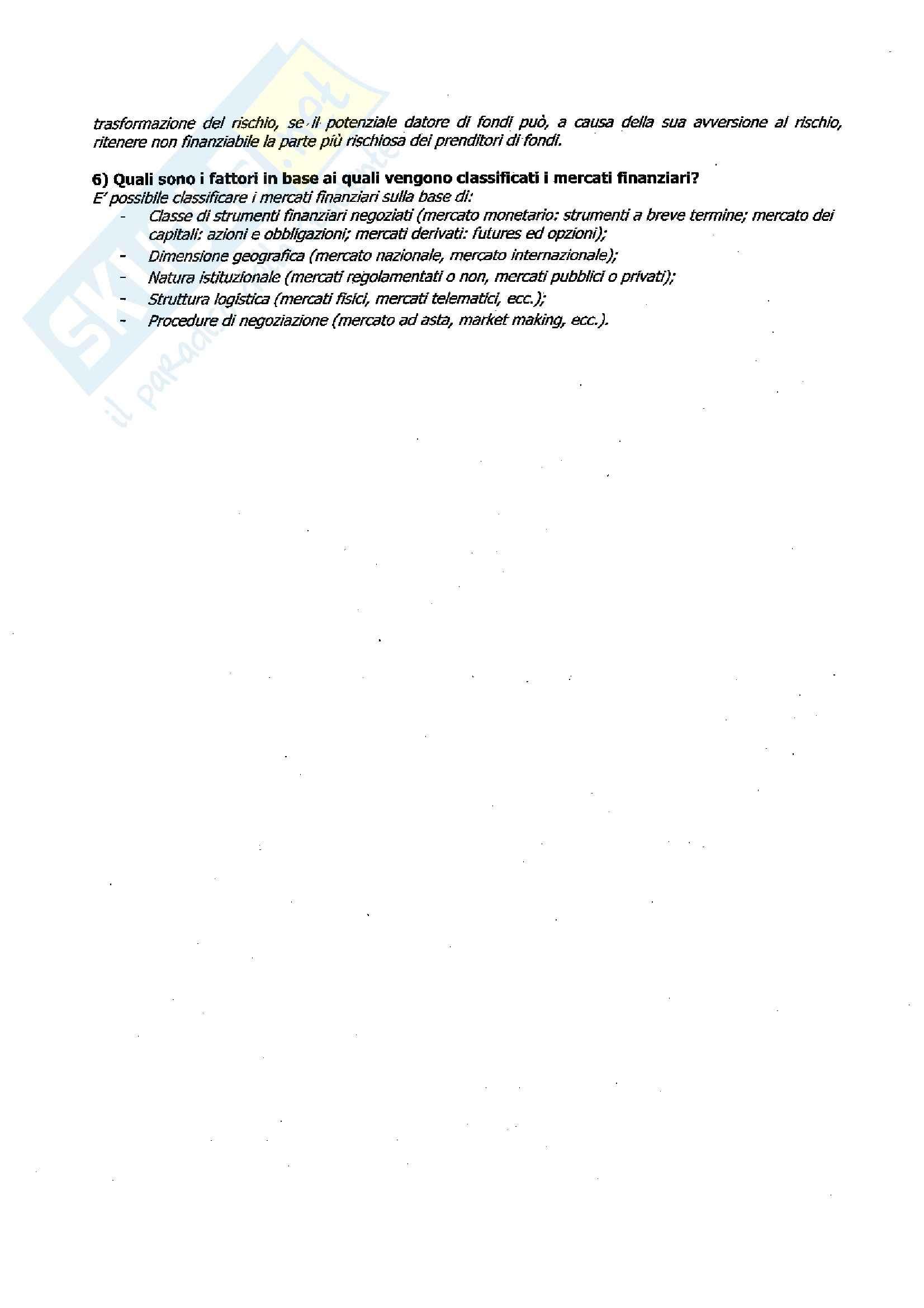 Economia degli intermediari finanziari - Investimenti e pagamenti Pag. 2