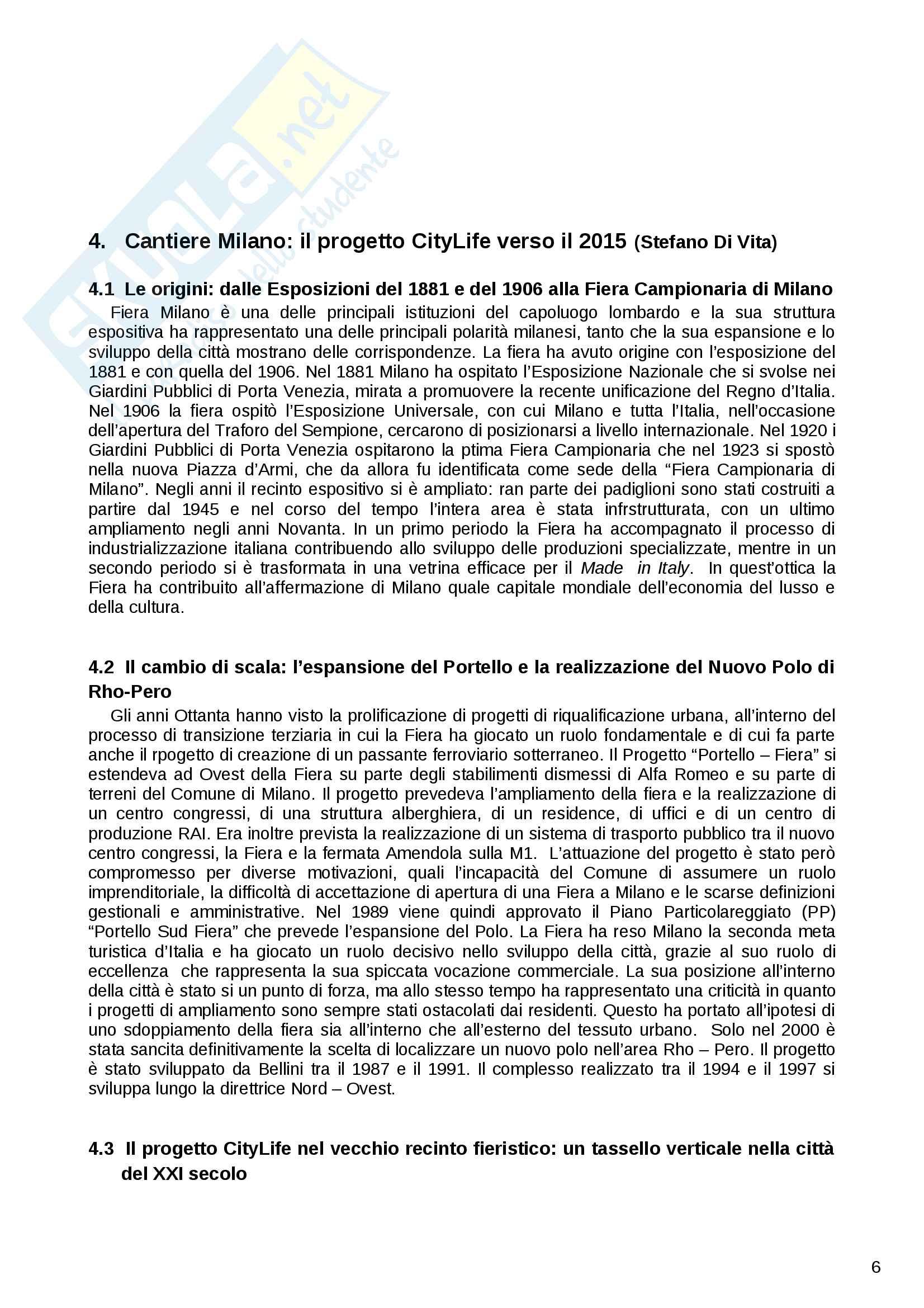 Riassunto esame Geografia Urbana e Regionale, prof. Dino Gavinelli, libro consigliato La Lombardia occidentale laboratorio di scomposizione e ricomposizione territoriale Pag. 6