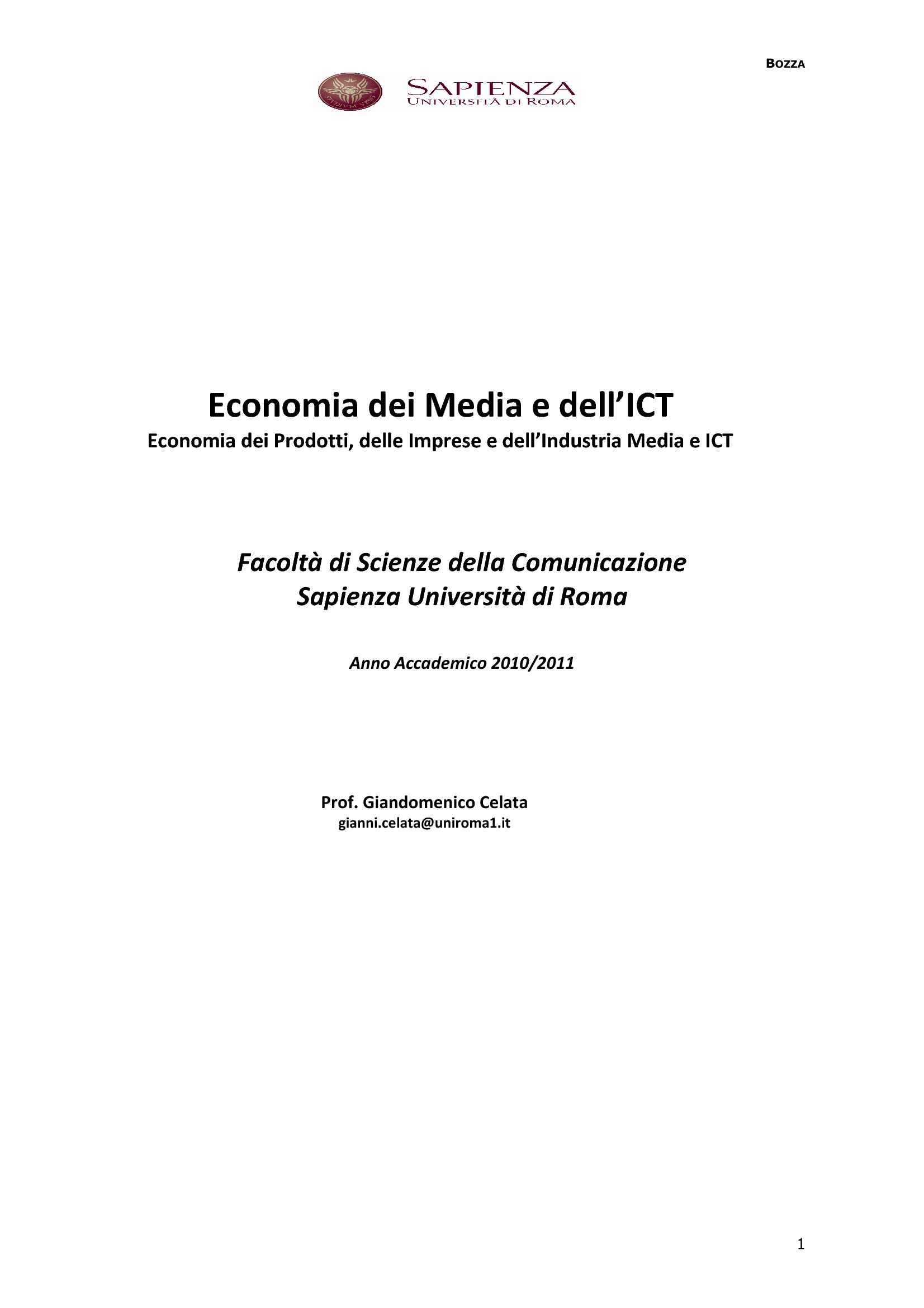 Economia dei media e dell'ICT