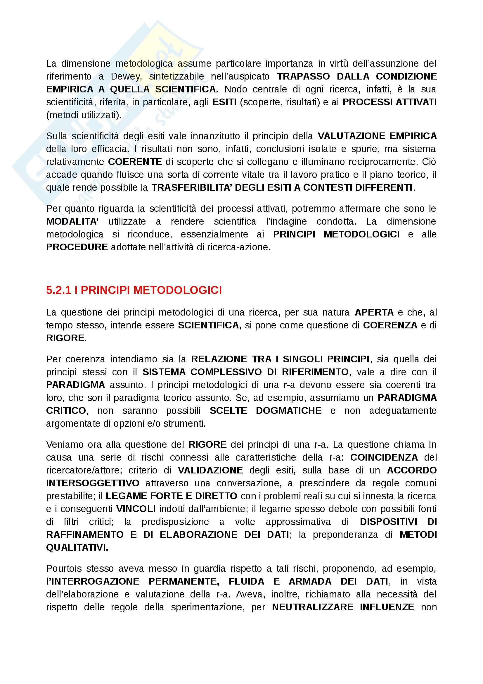 Riassunto esame Docimologia, prof. D'Ugo, libro consigliato Manuale di metodologia della ricerca educativa, Trinchero Pag. 46