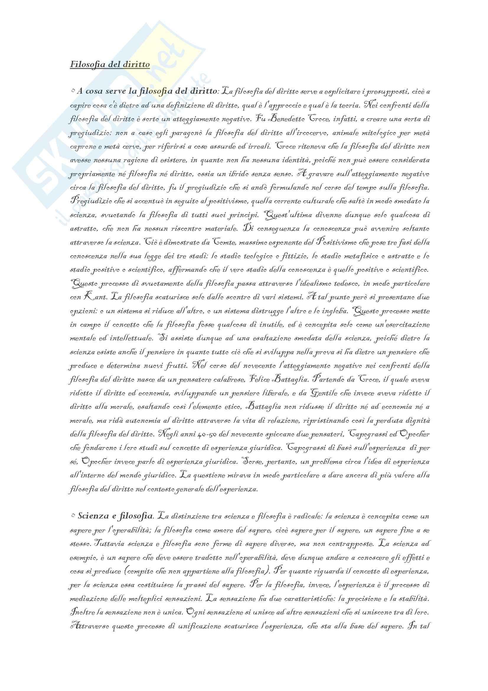 Filosofia del diritto - Appunti
