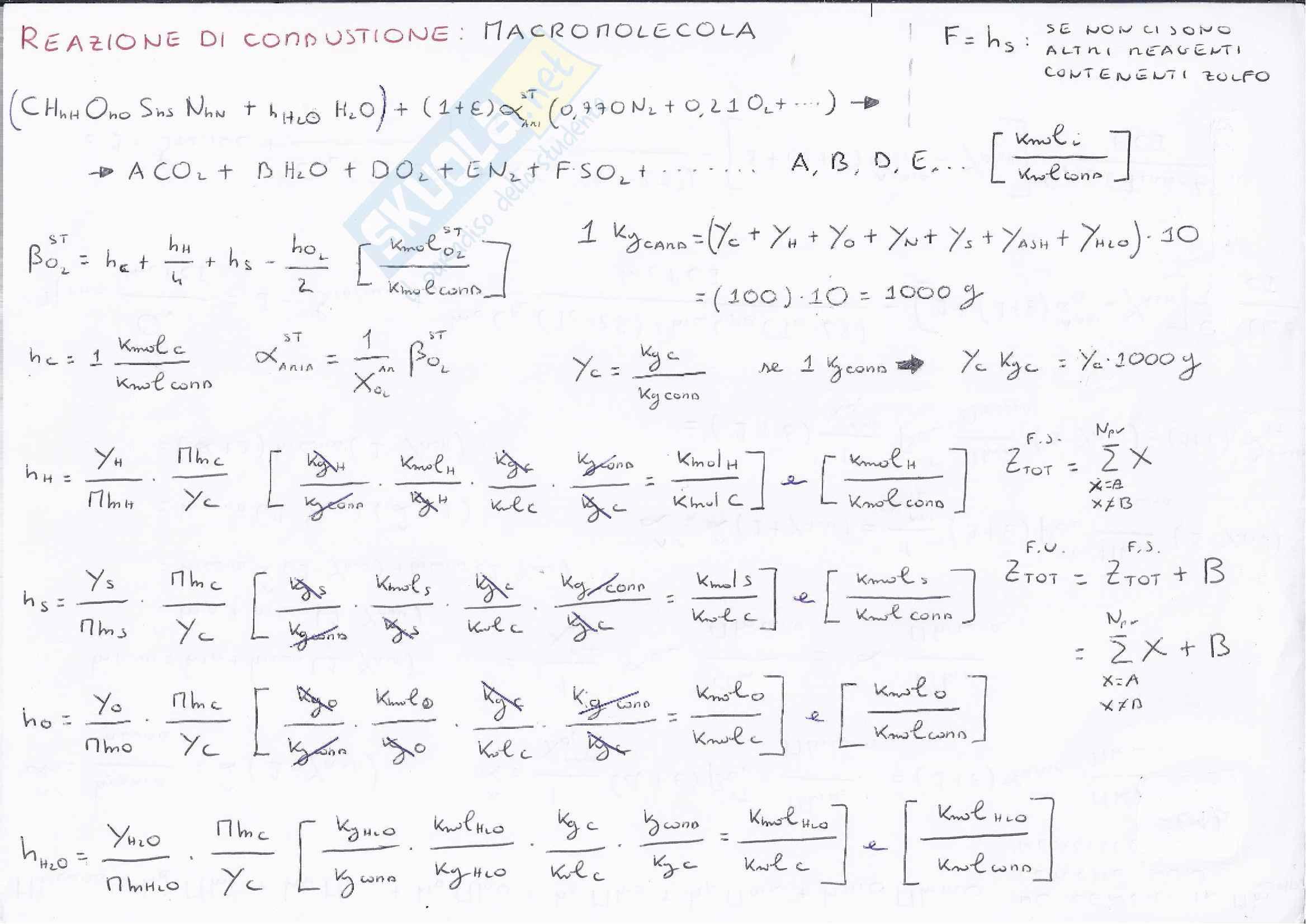 Sistemi Energetici - Formulario Pag. 1