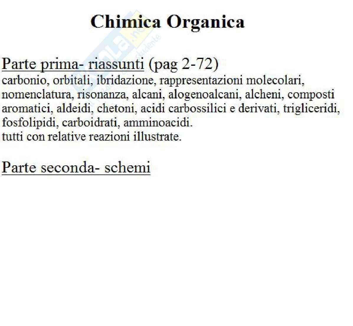 Riassunto esame Chimica Organica, prof. Guarna
